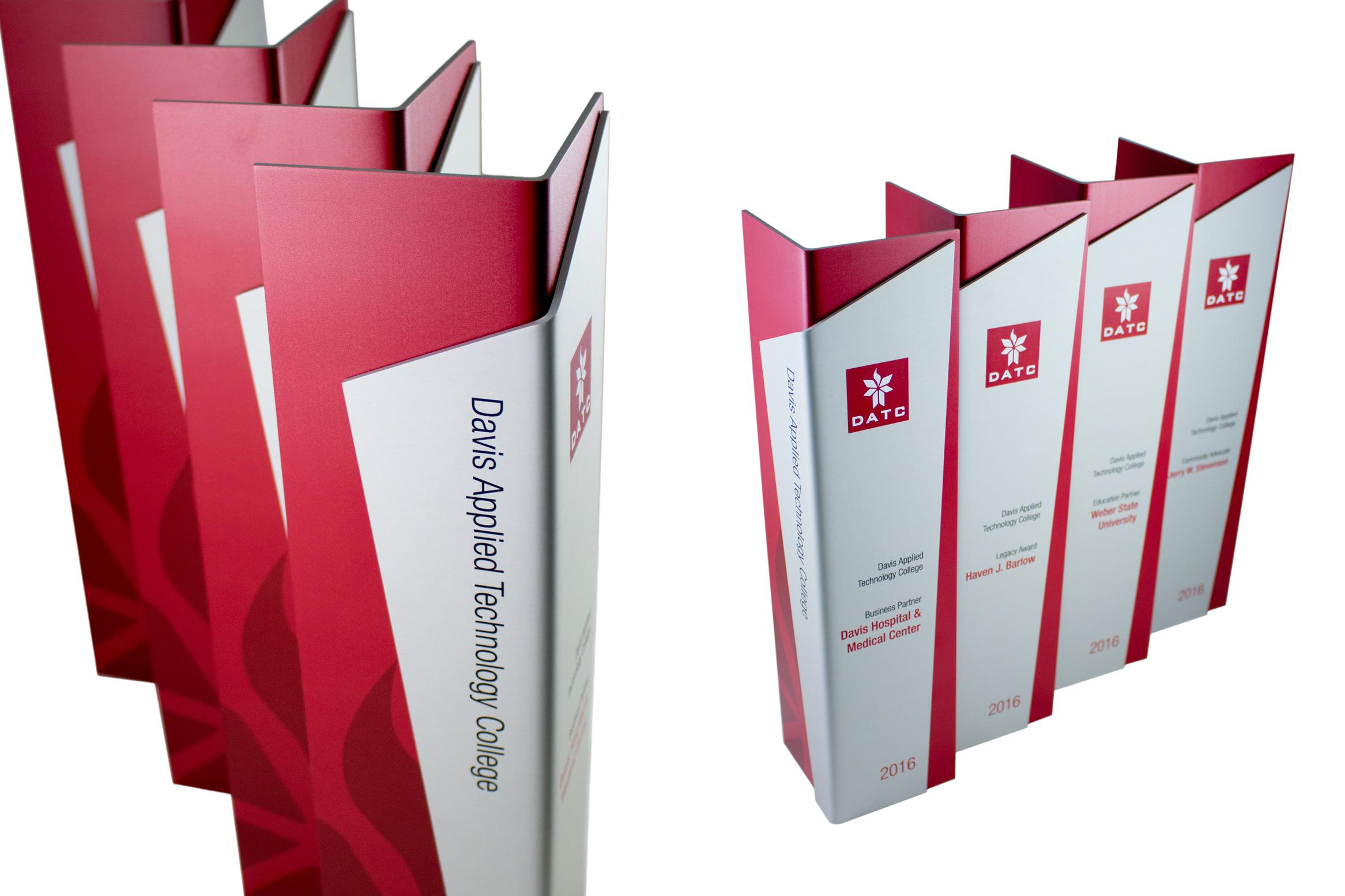 davis applied technology college - modern metal aluminum trophies awards