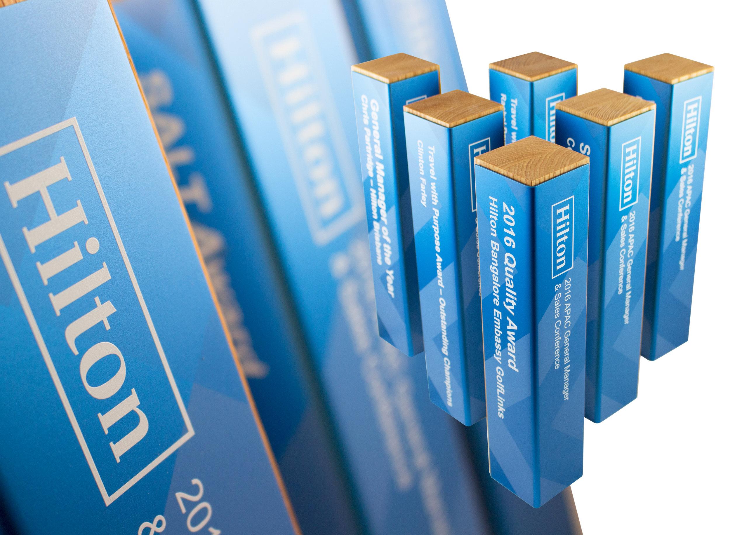 hilton hotels - custom eco friendly awards