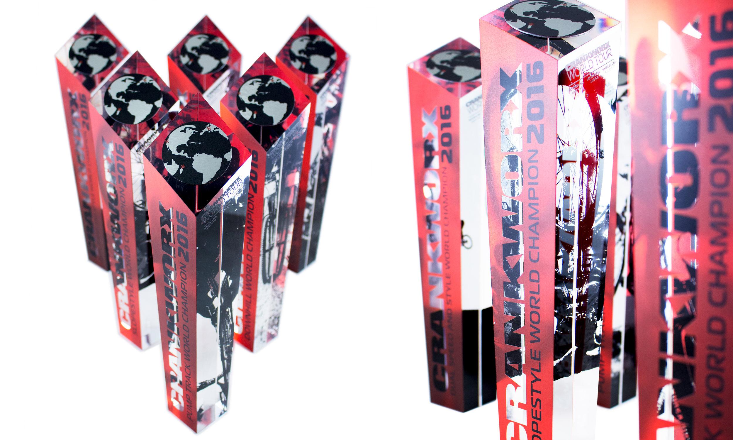crankworx whistler custom trophies race winners