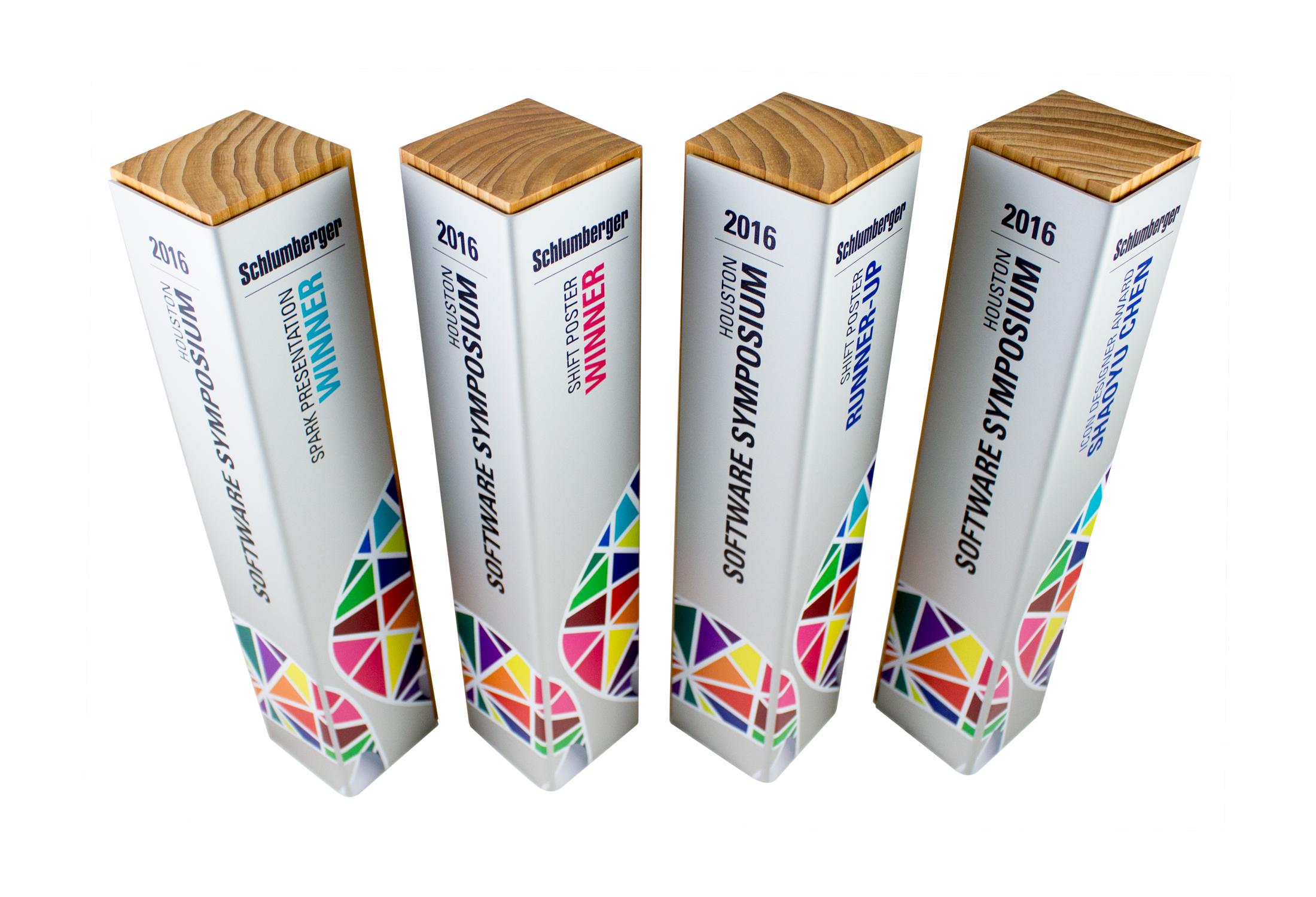 schlumberger custom eco friendly awards trophies