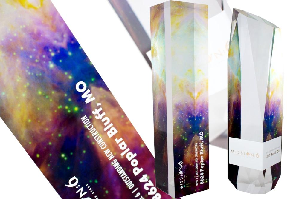 g6 hospitality custom trophy award design