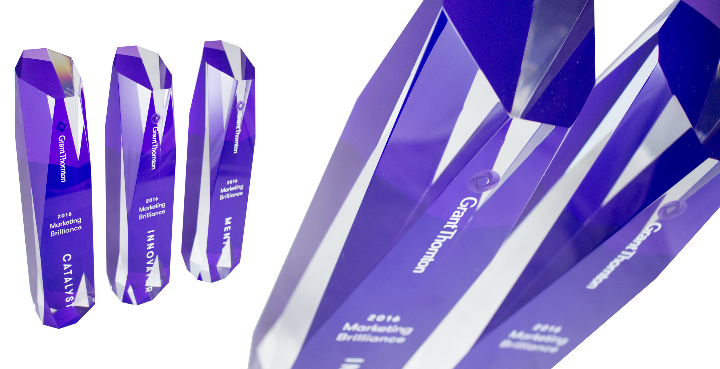 grant thornton custom acrylic award design - modern acrylic custom award