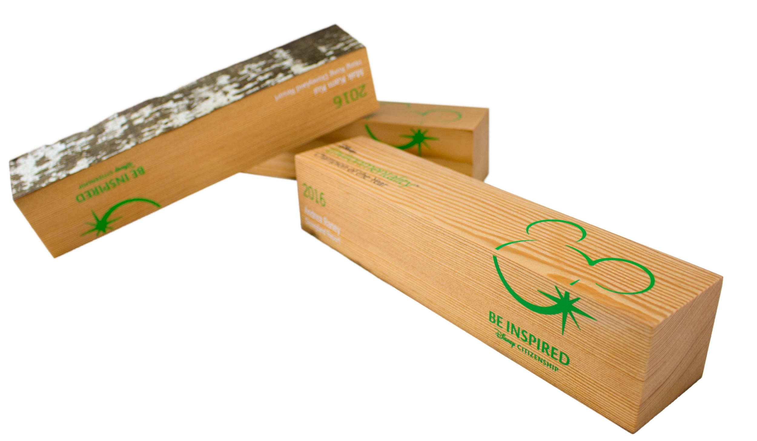 disney custom environmental awards recovered wood