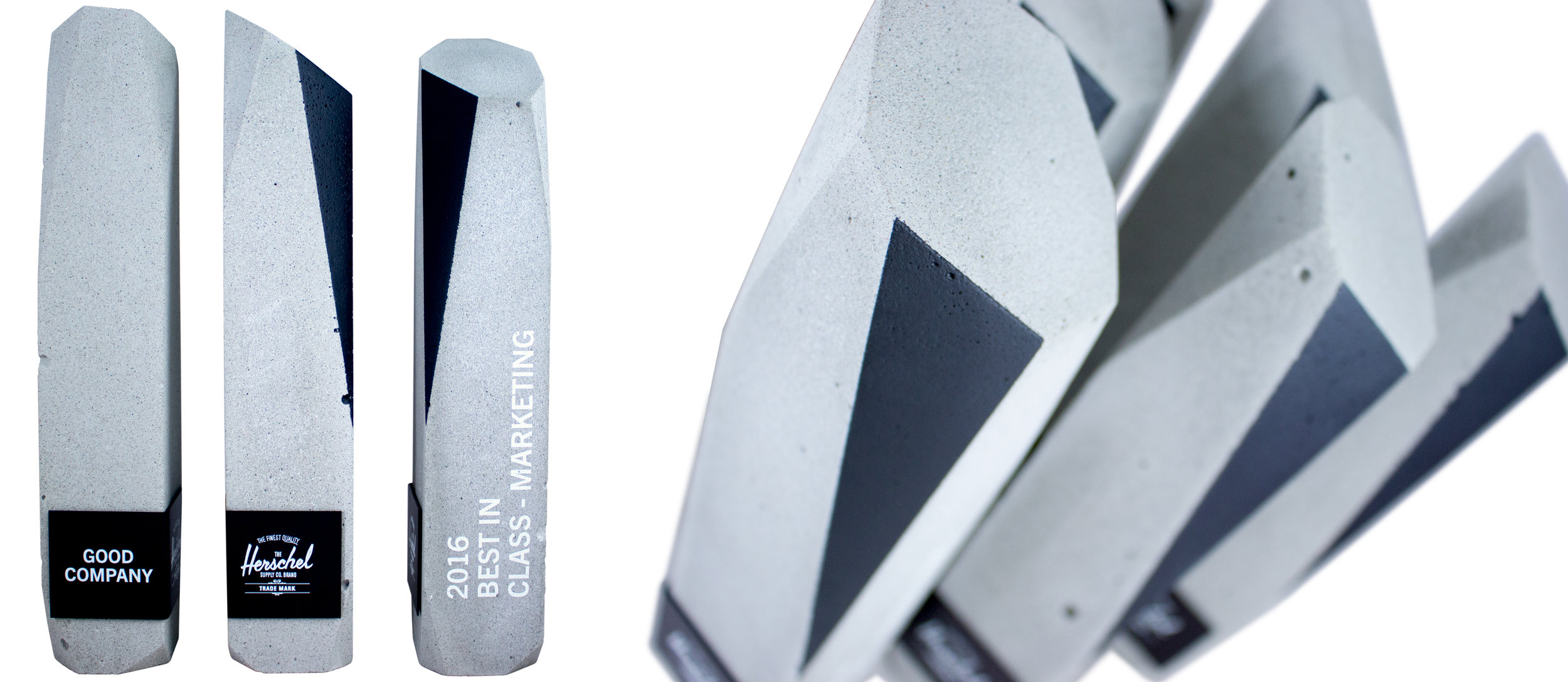 herschel new york inspired trophies modern concrete