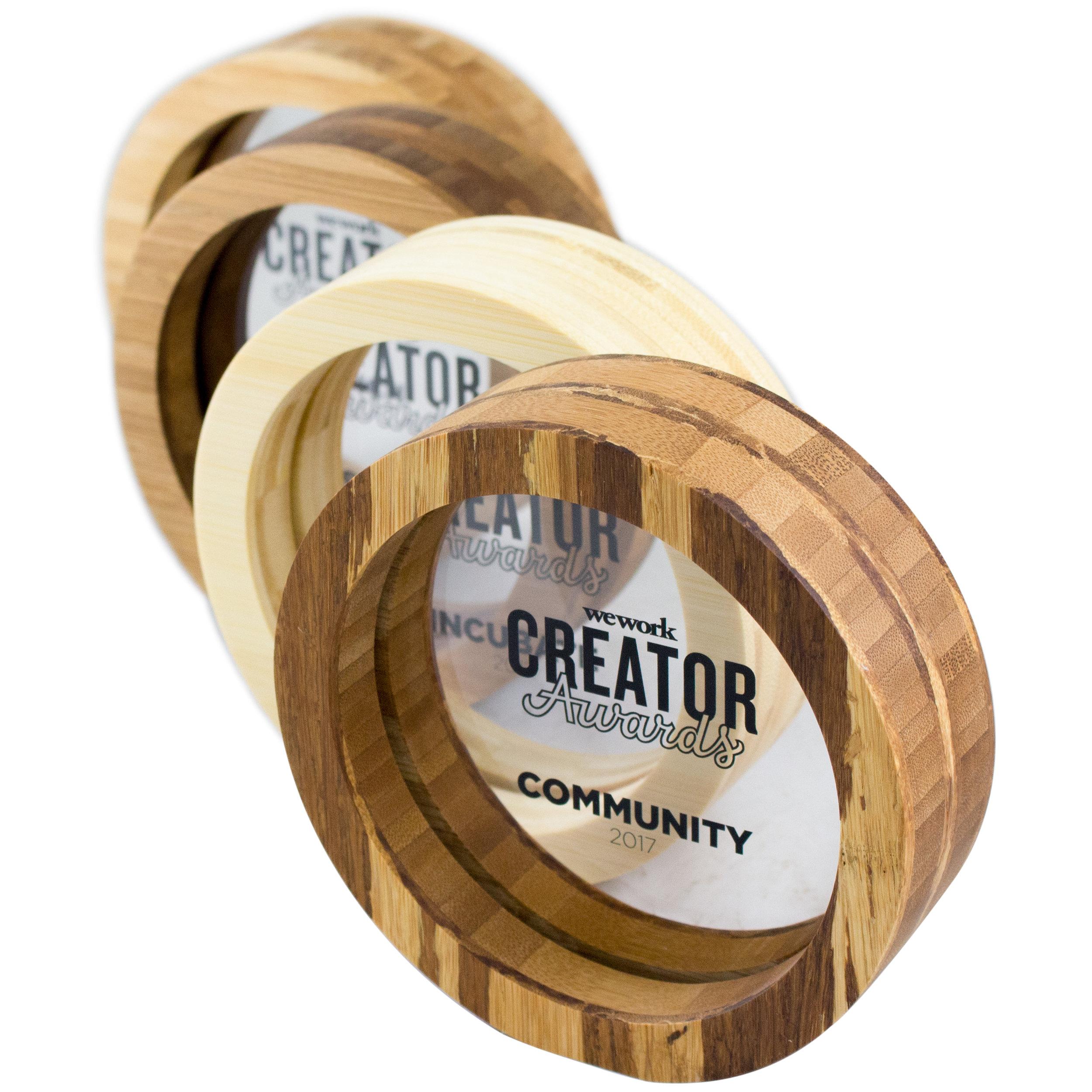 wework creator awards - custom design