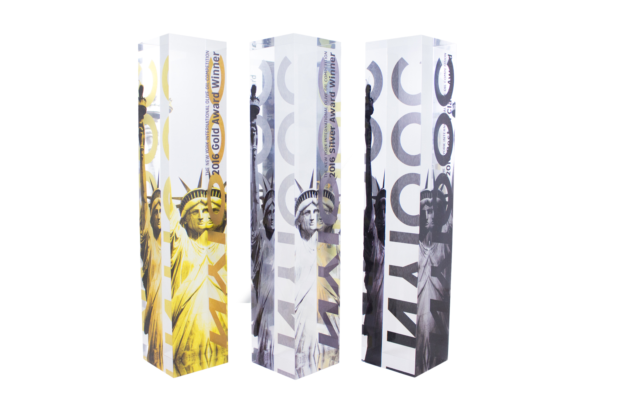 modern acrylic lucite awards not glass or crystal