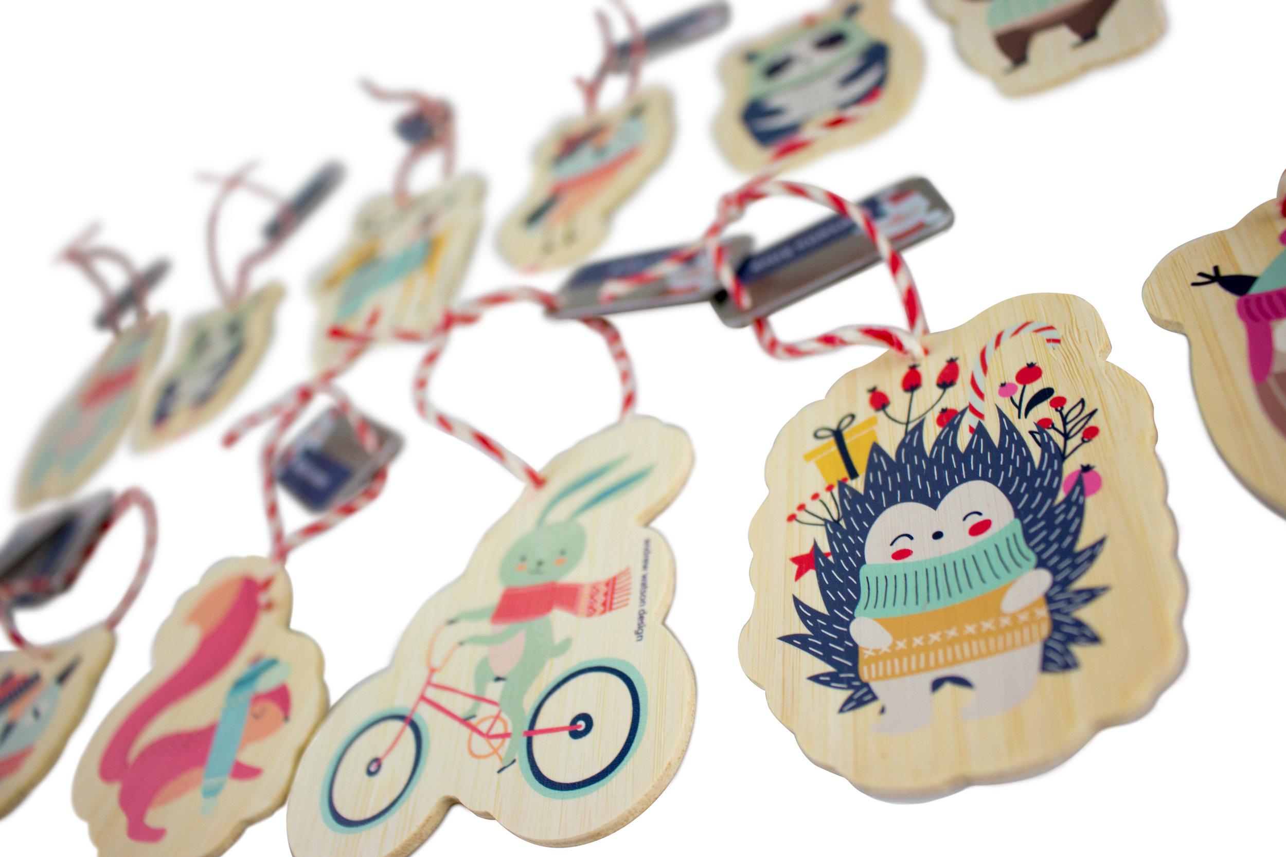 custom tree ornaments - holiday gift
