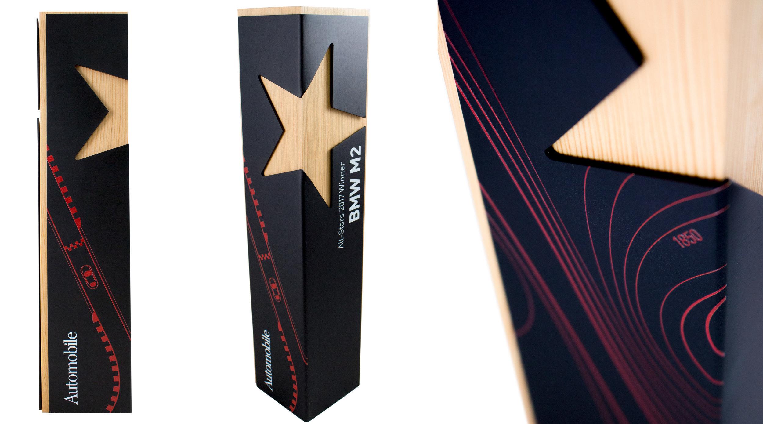custom star award corporate achievement