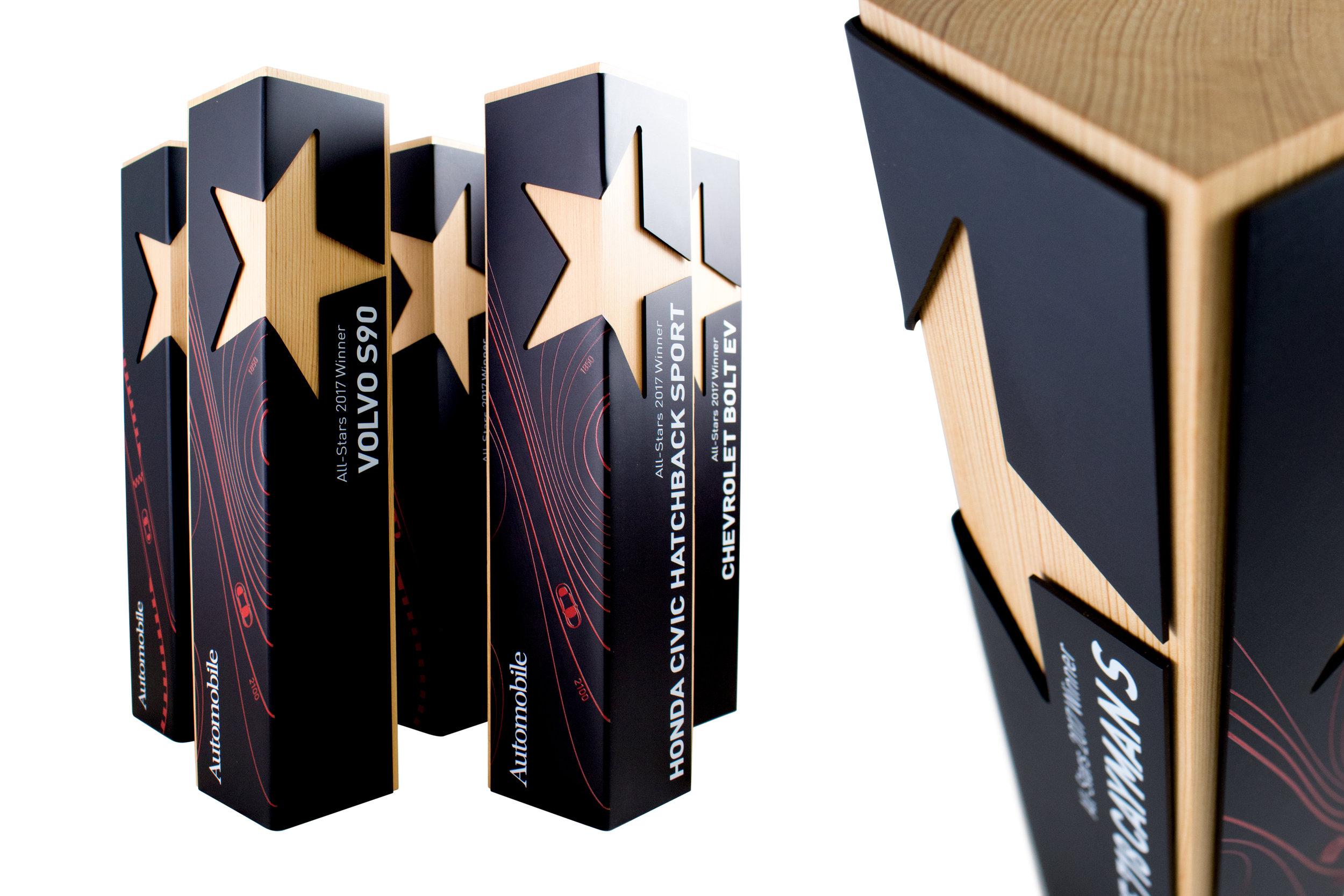 custom star award corporate achievement modern
