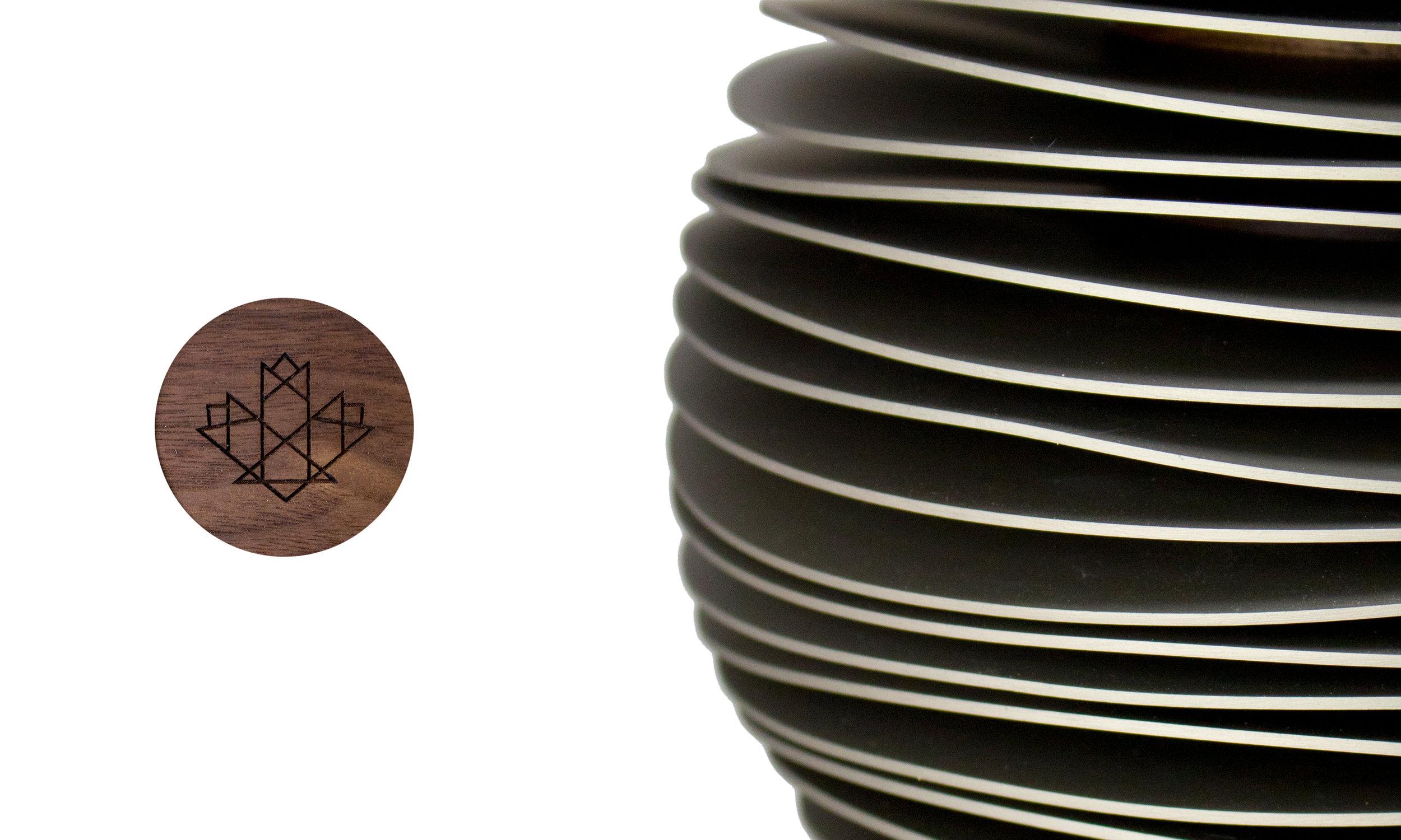 mining hall of fame awards corporate recognition modern walnut hardwood laser engraving