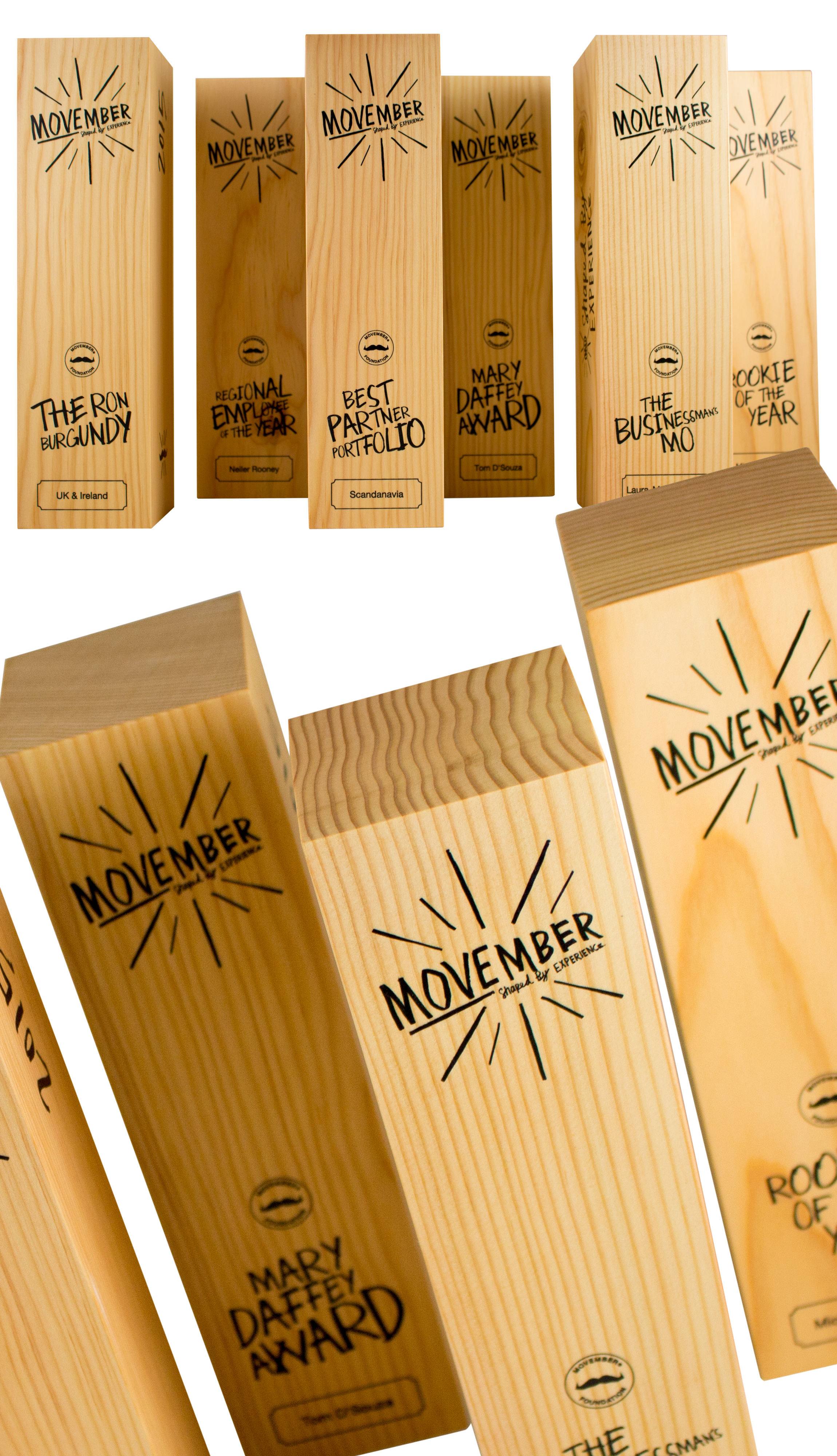 Movember simple and fresh awards.
