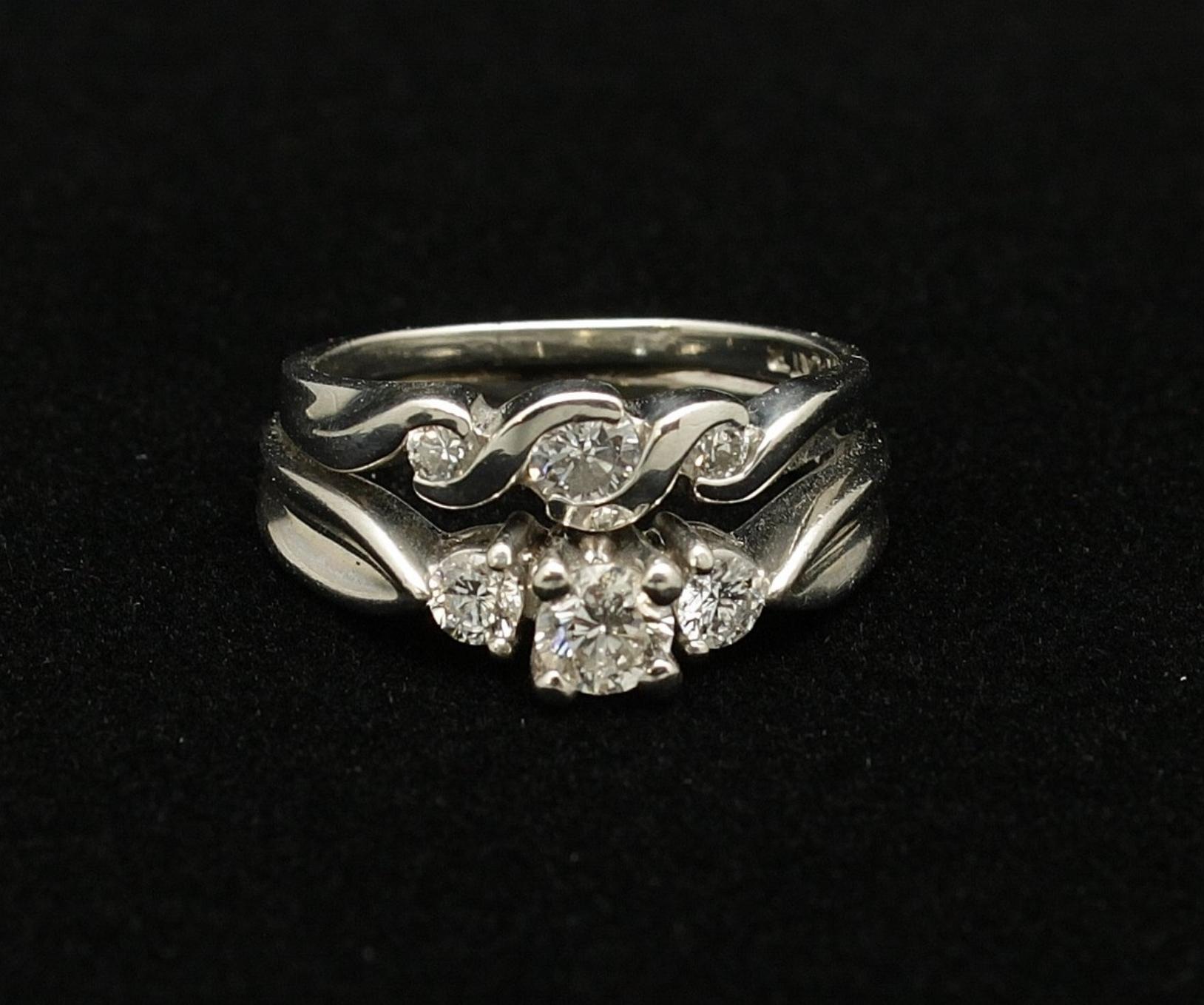 Vintage Platinum Diamond Ring .65cts