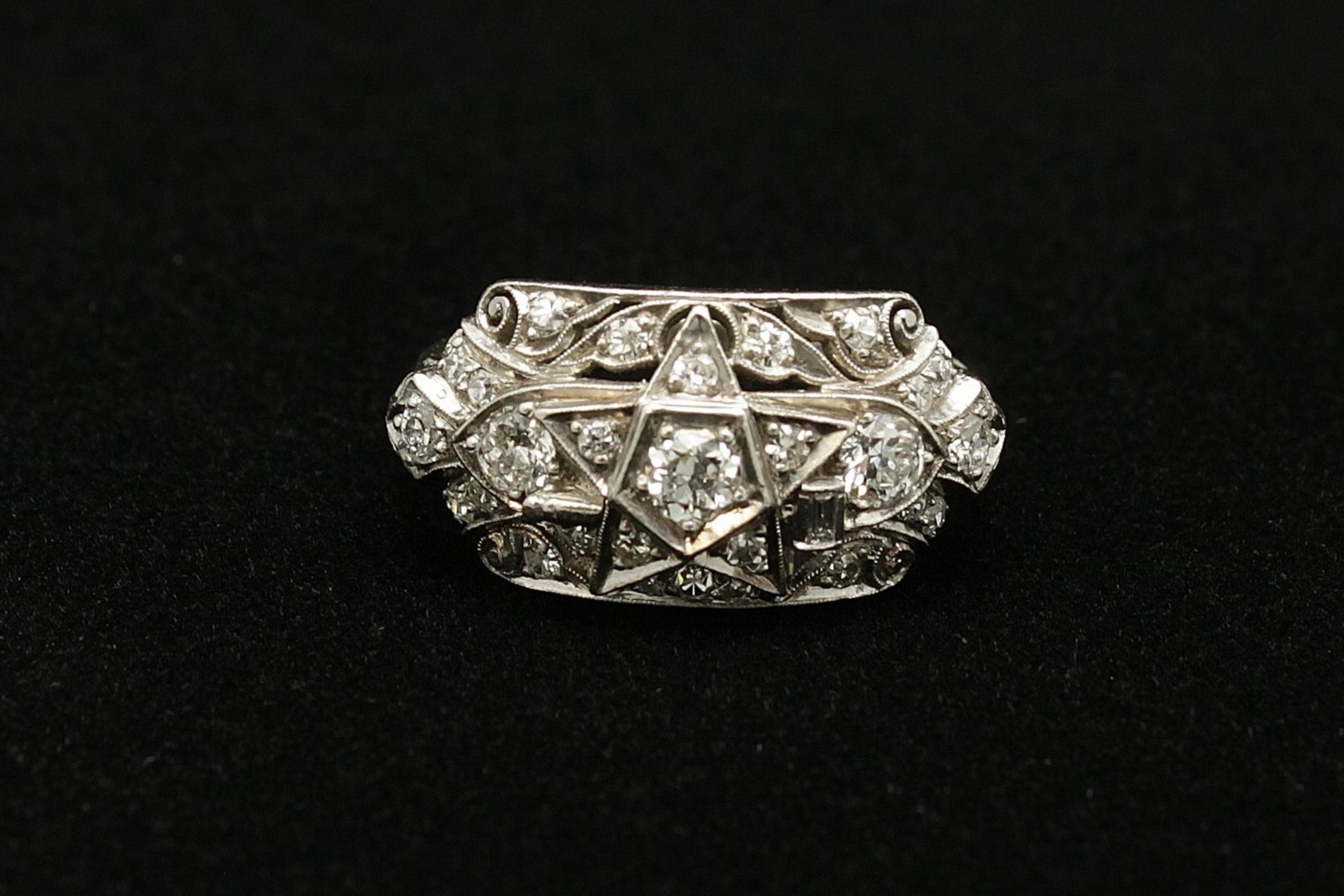 Antique Platinum Diamond Old Mine Cut 1.65cts