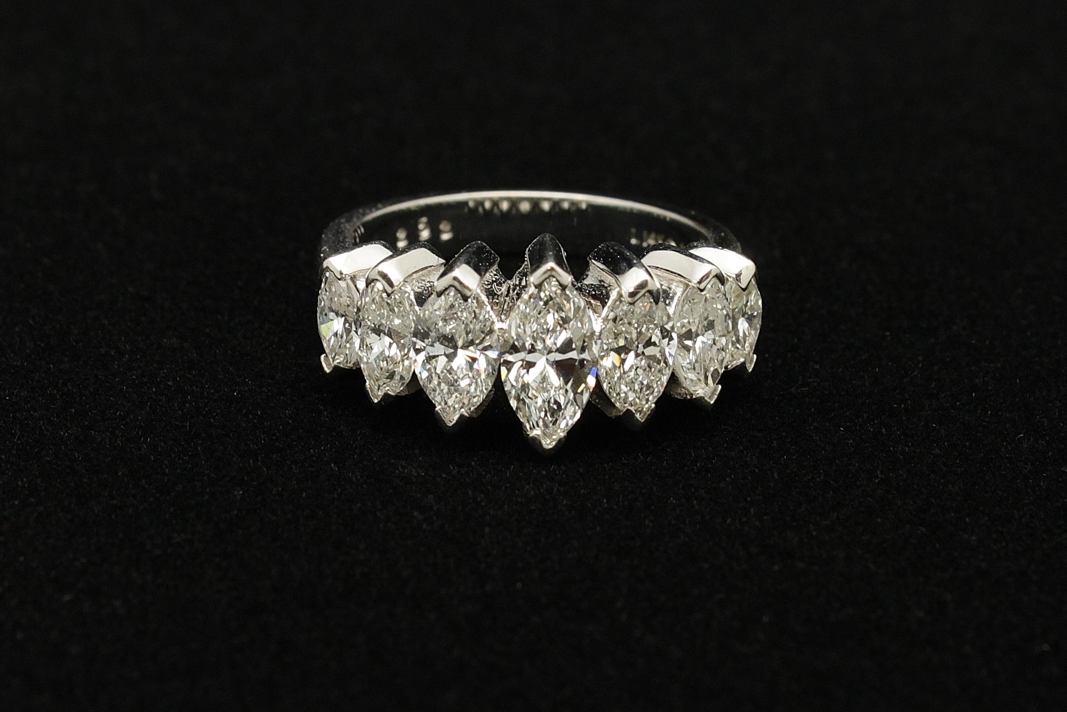 Vintage 14kt Diamond Ring 3cts