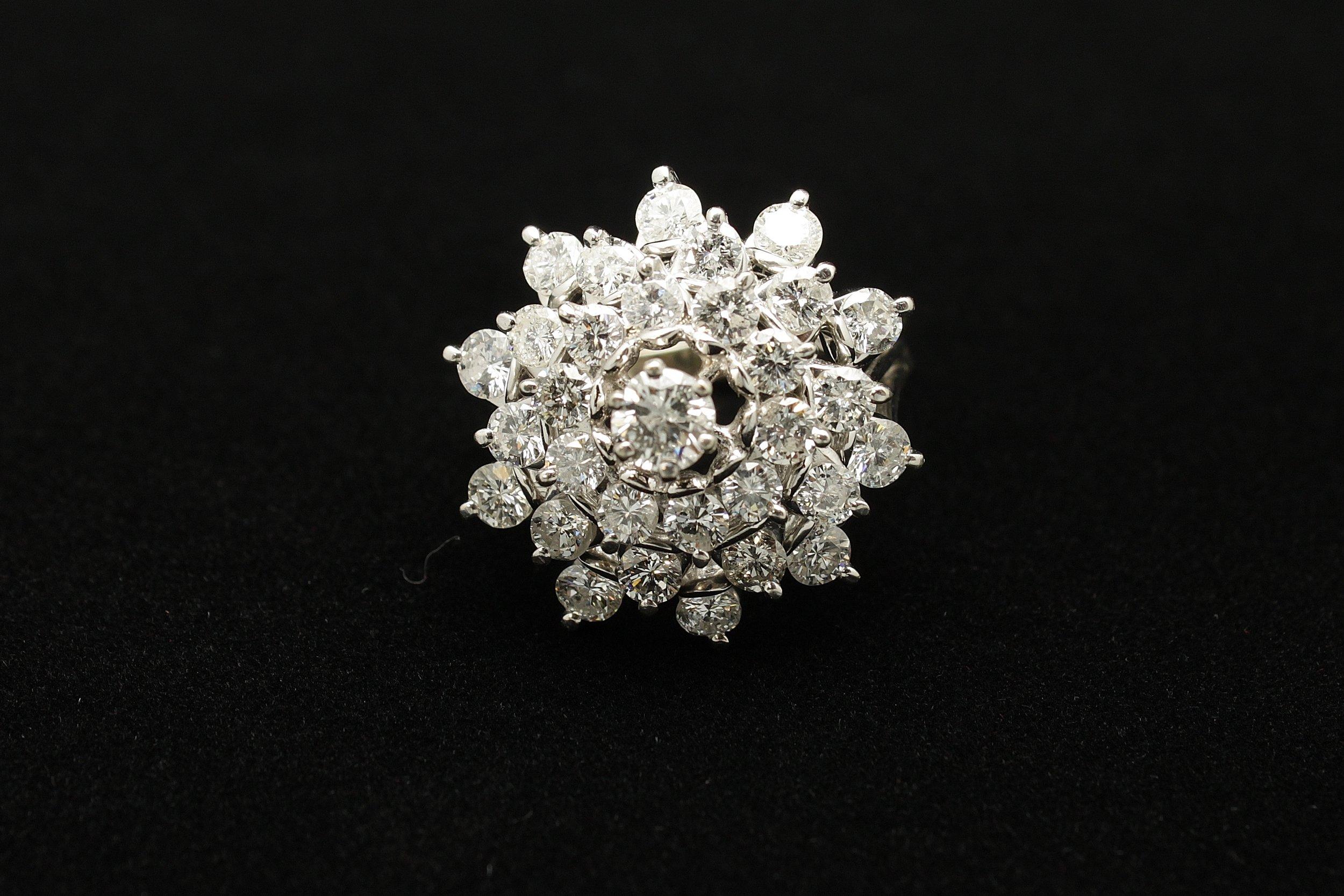 Vintage 14kt Diamond Ring 4.9cts