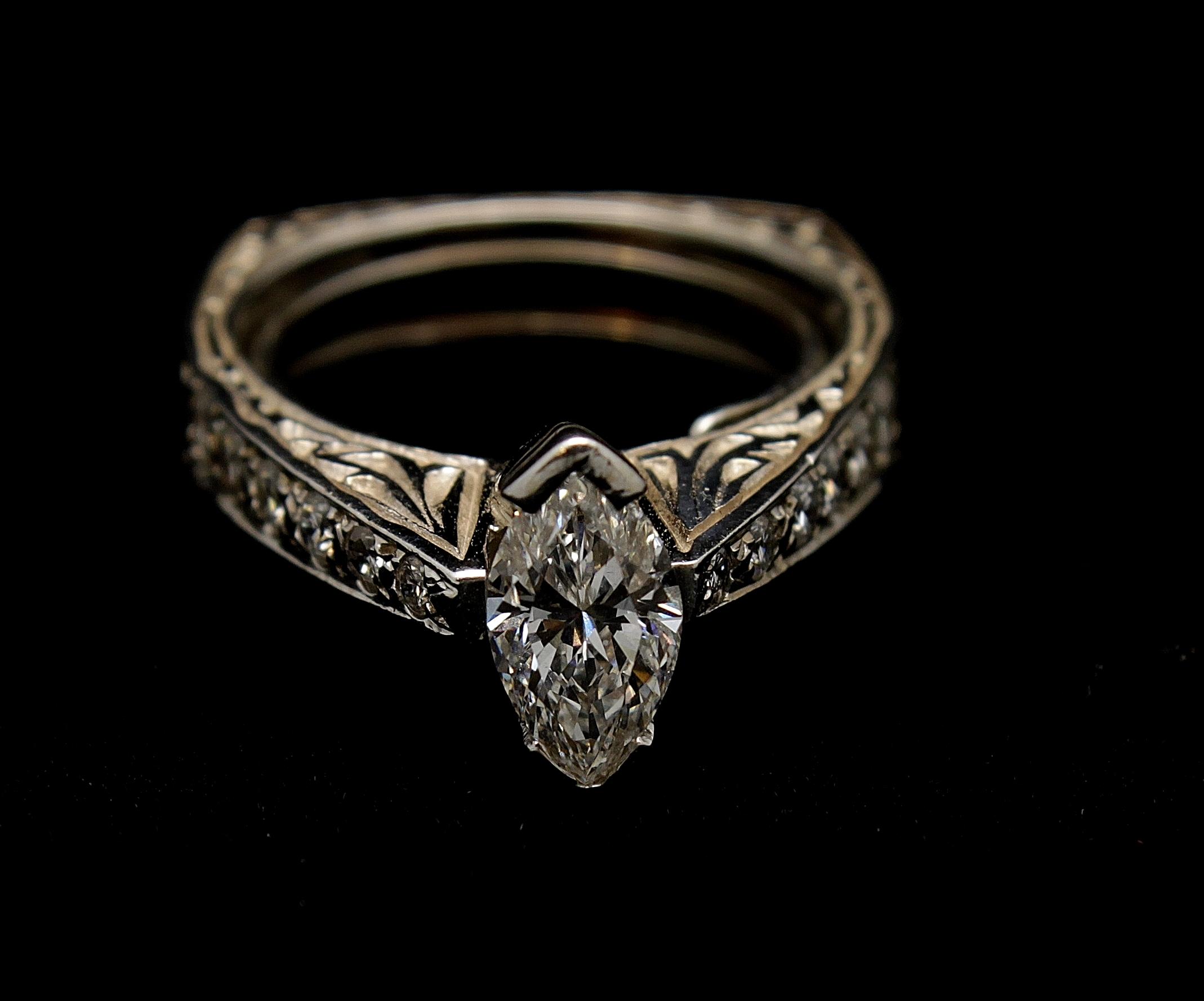 Vintage 14kt Diamond Ring 1.4cts