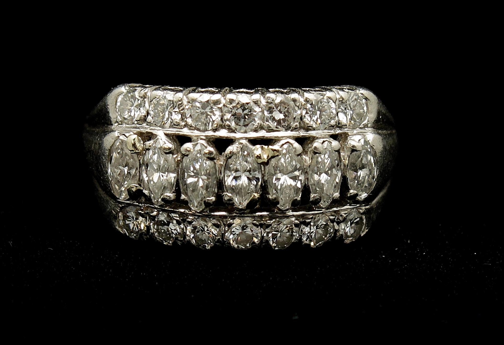 Antique 18kt Diamond 1.75cts Ring
