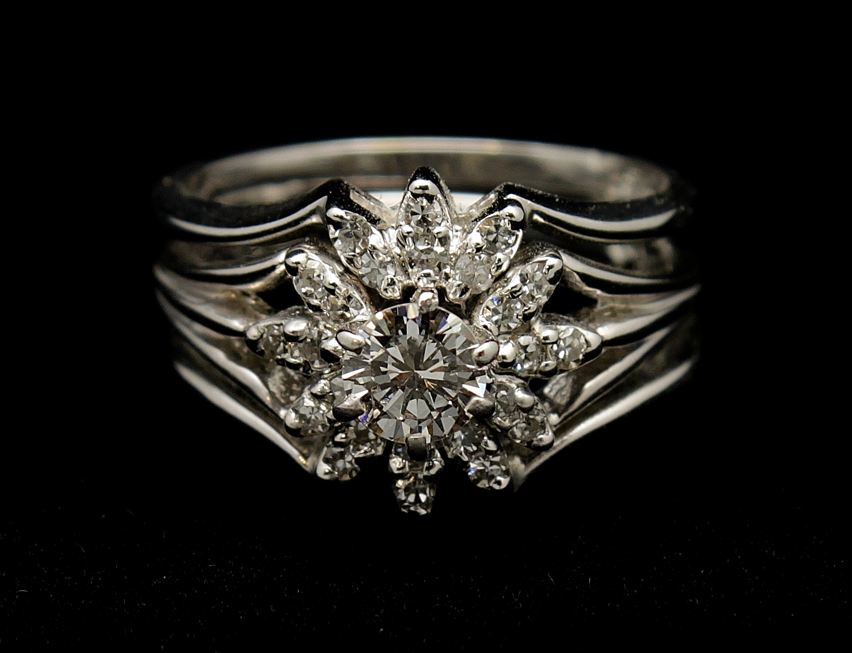 Vintage 14kt Diamond .83 Ring