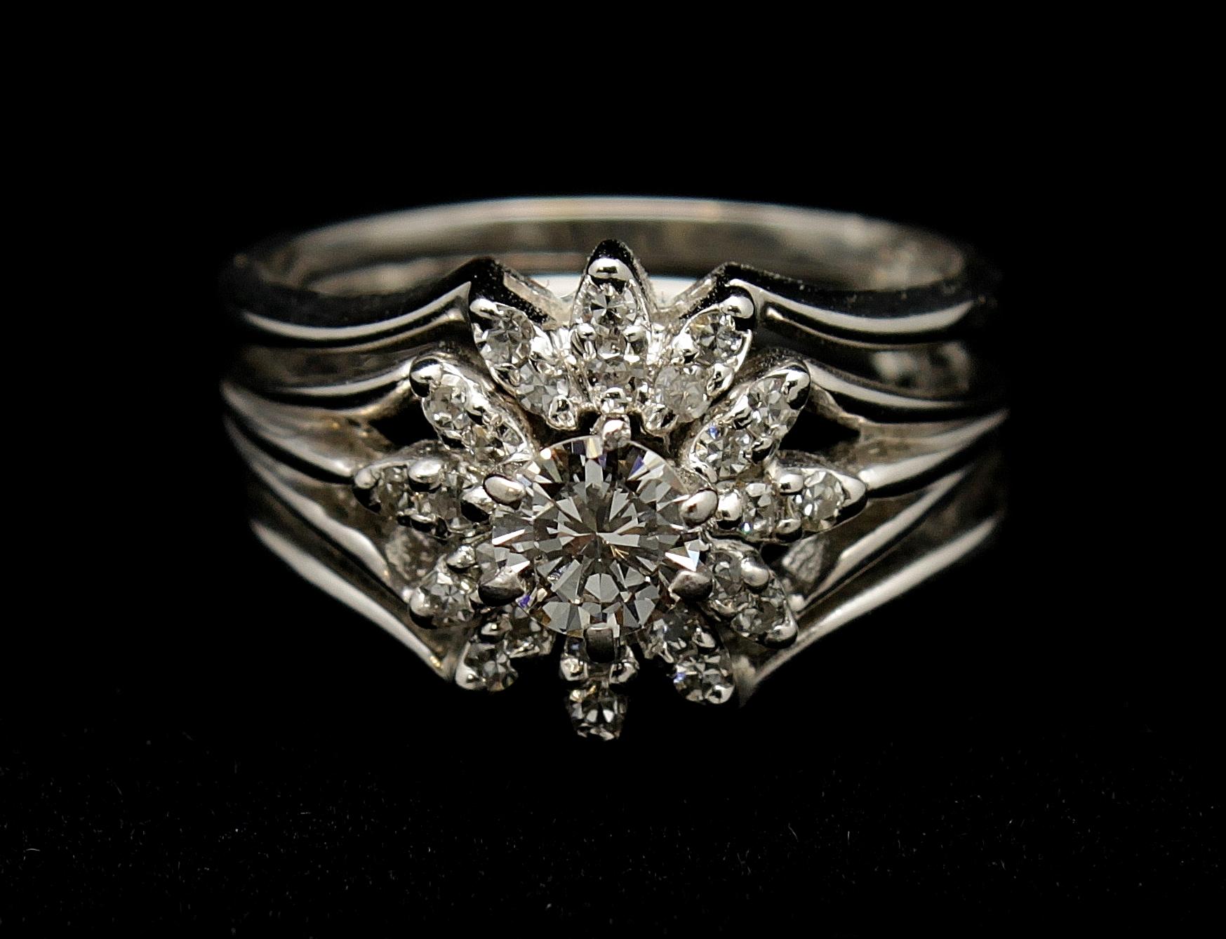 Vintage 14kt Diamond .83 Ring