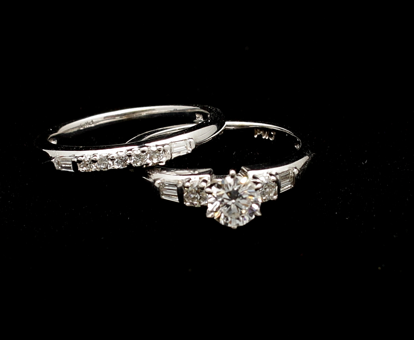 Vintage 14kt Diamond Ring Set