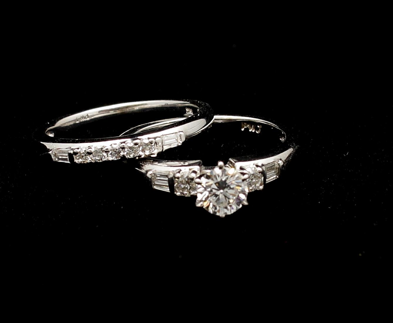 Vintage 14kt Diamond Ring Set