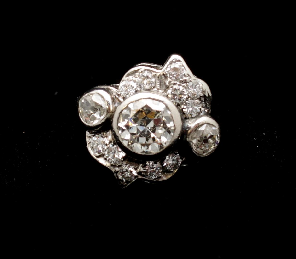 Antique Platinum Diamond Old Mine Cut 5.15cts Ring
