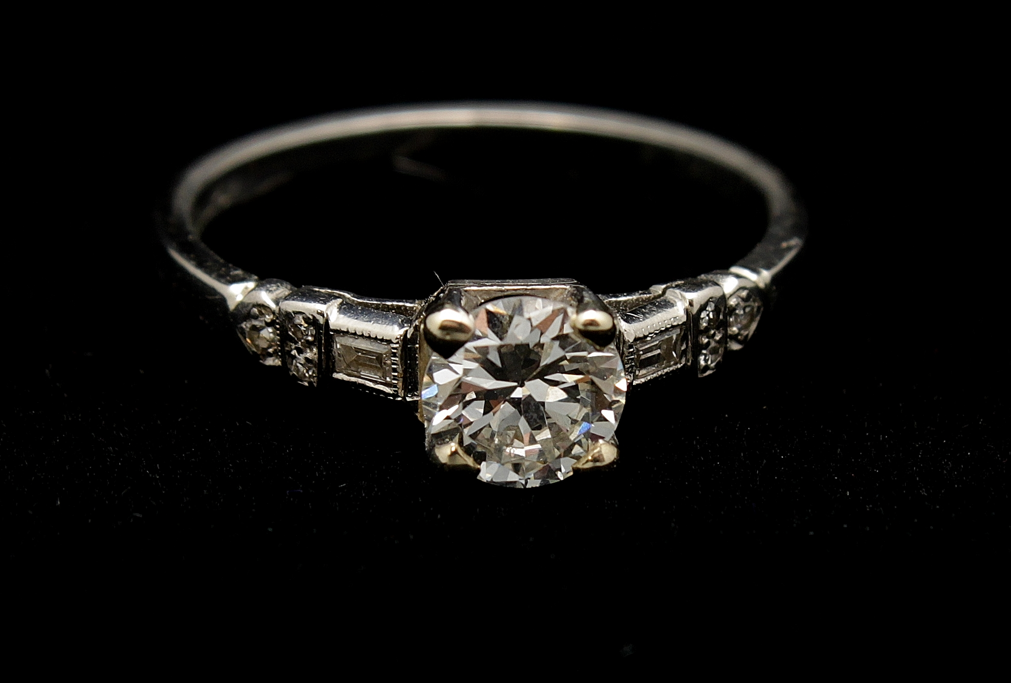 Antique Diamond Old European Cut Ring 1.20cts