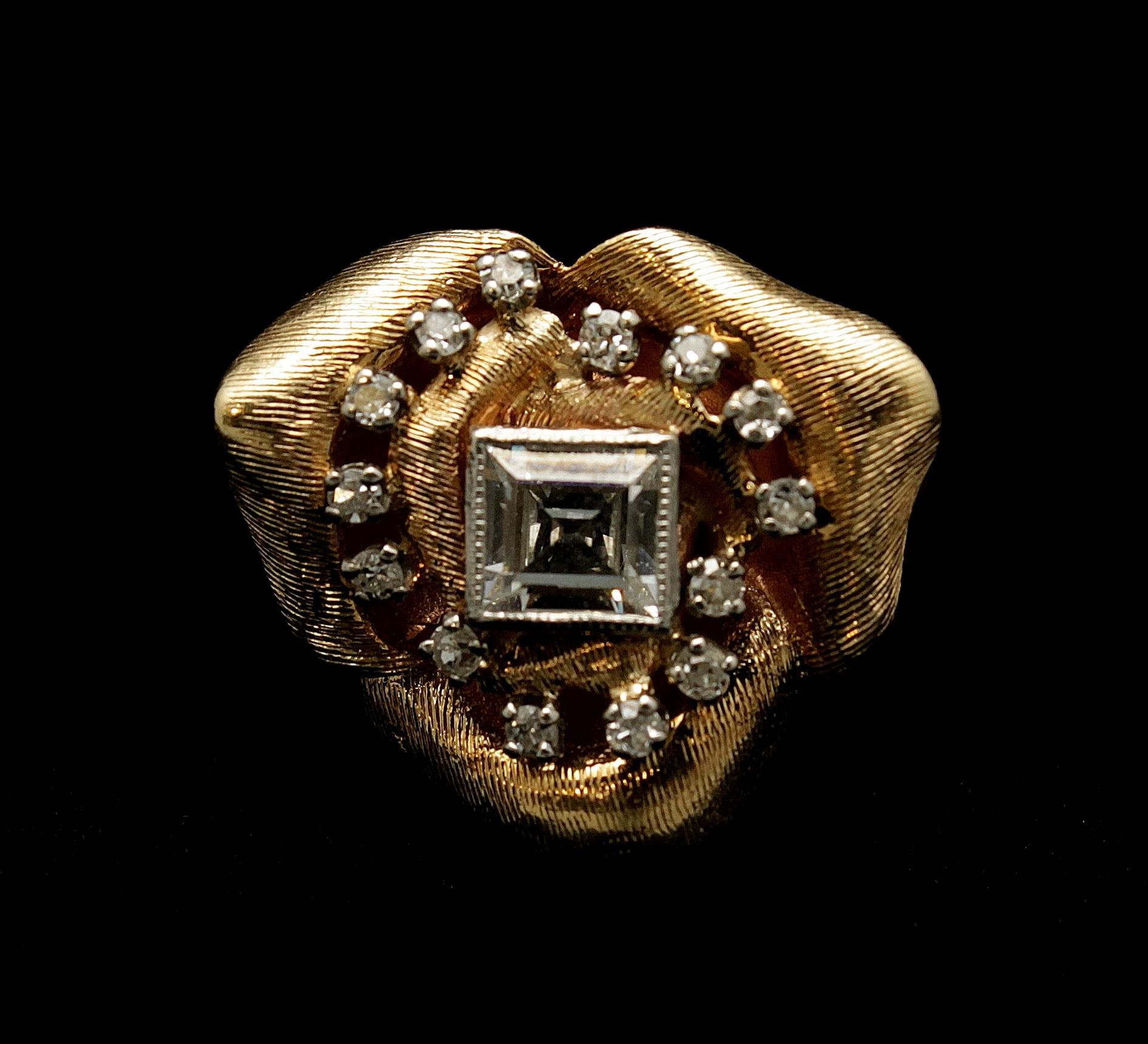 Antique 18kt Diamond Ring 1.50cts