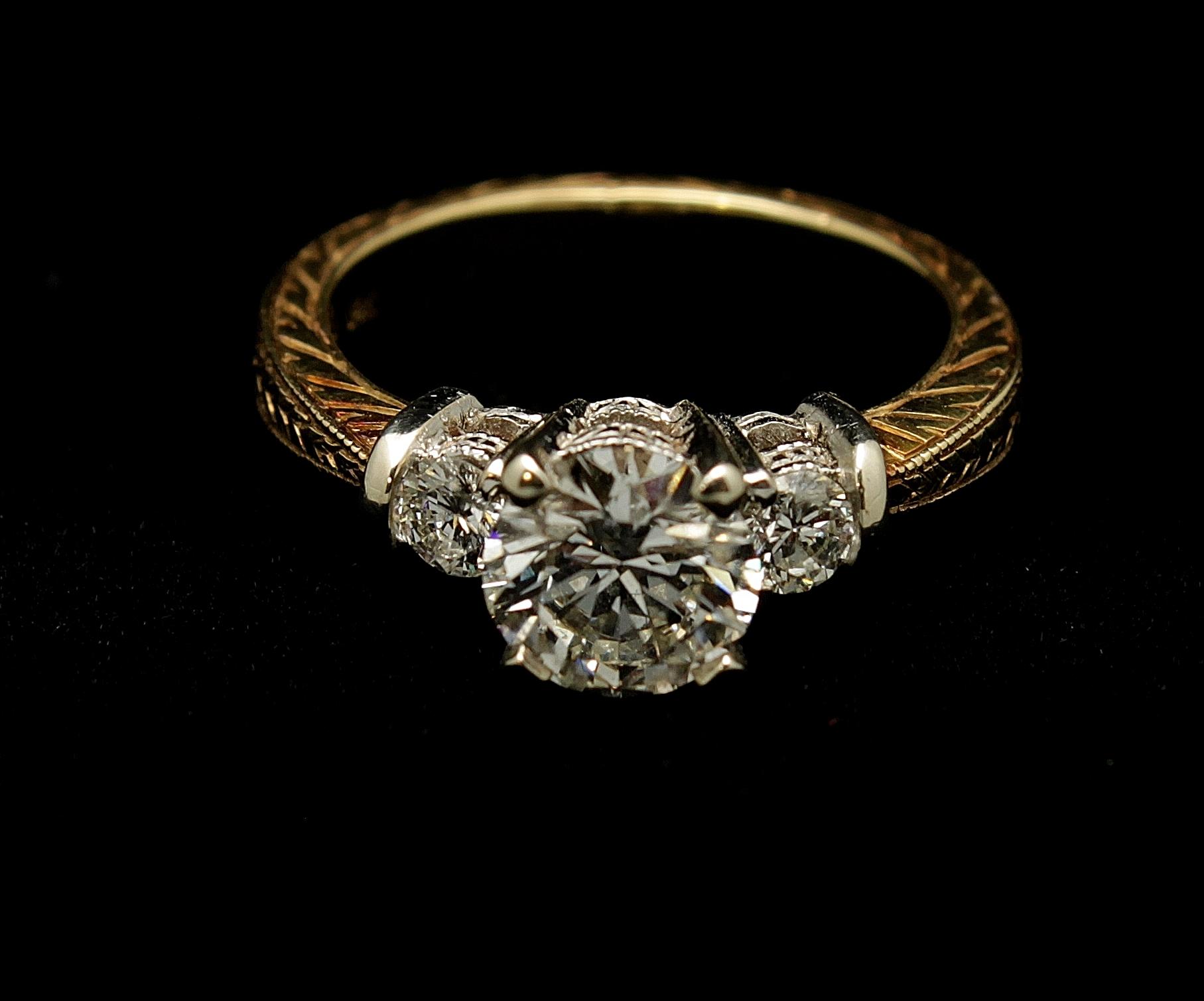 Vintage Diamond Ring 1.30cts