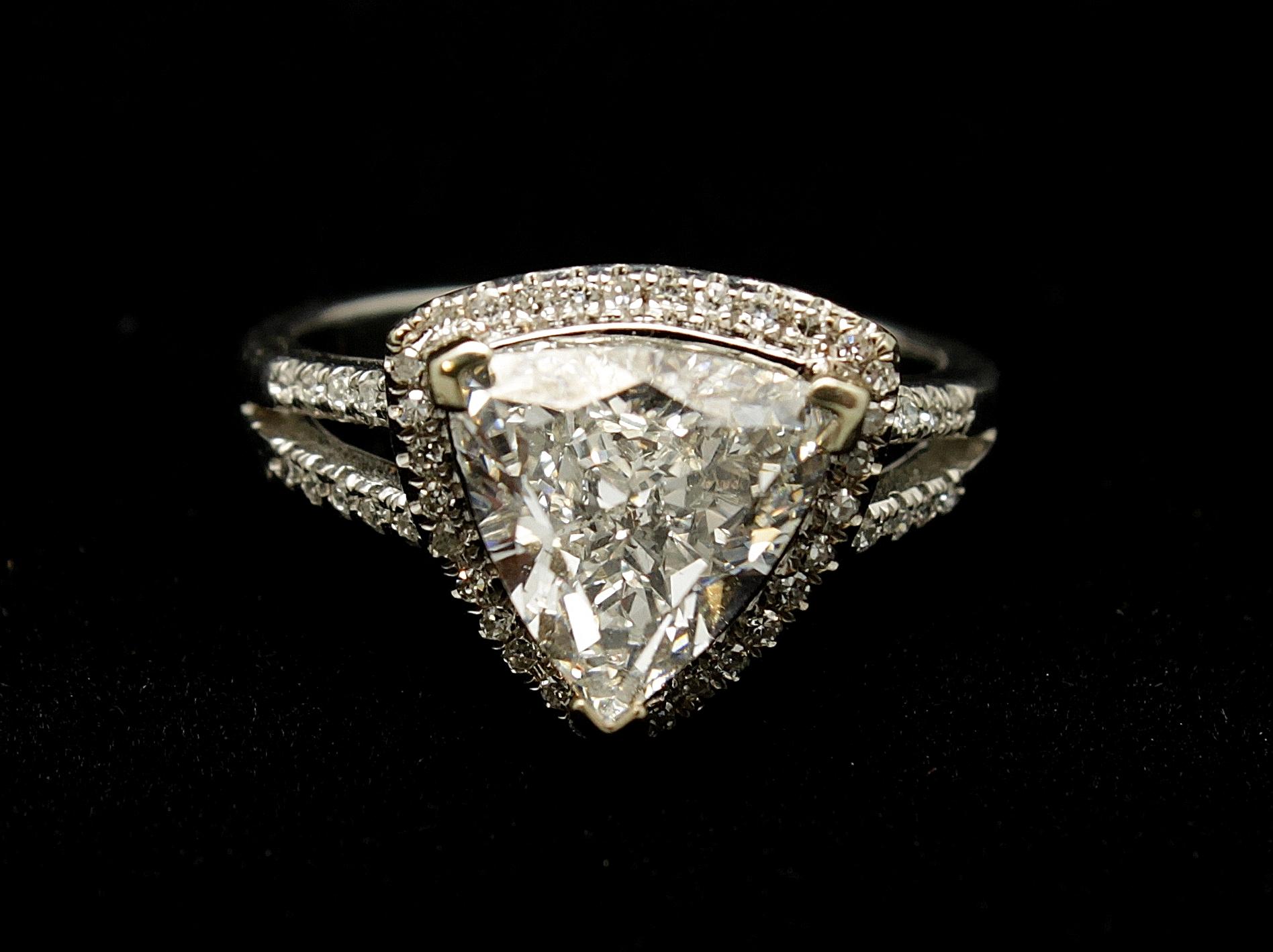 Vintage 14kt Diamond Ring 2.5cts