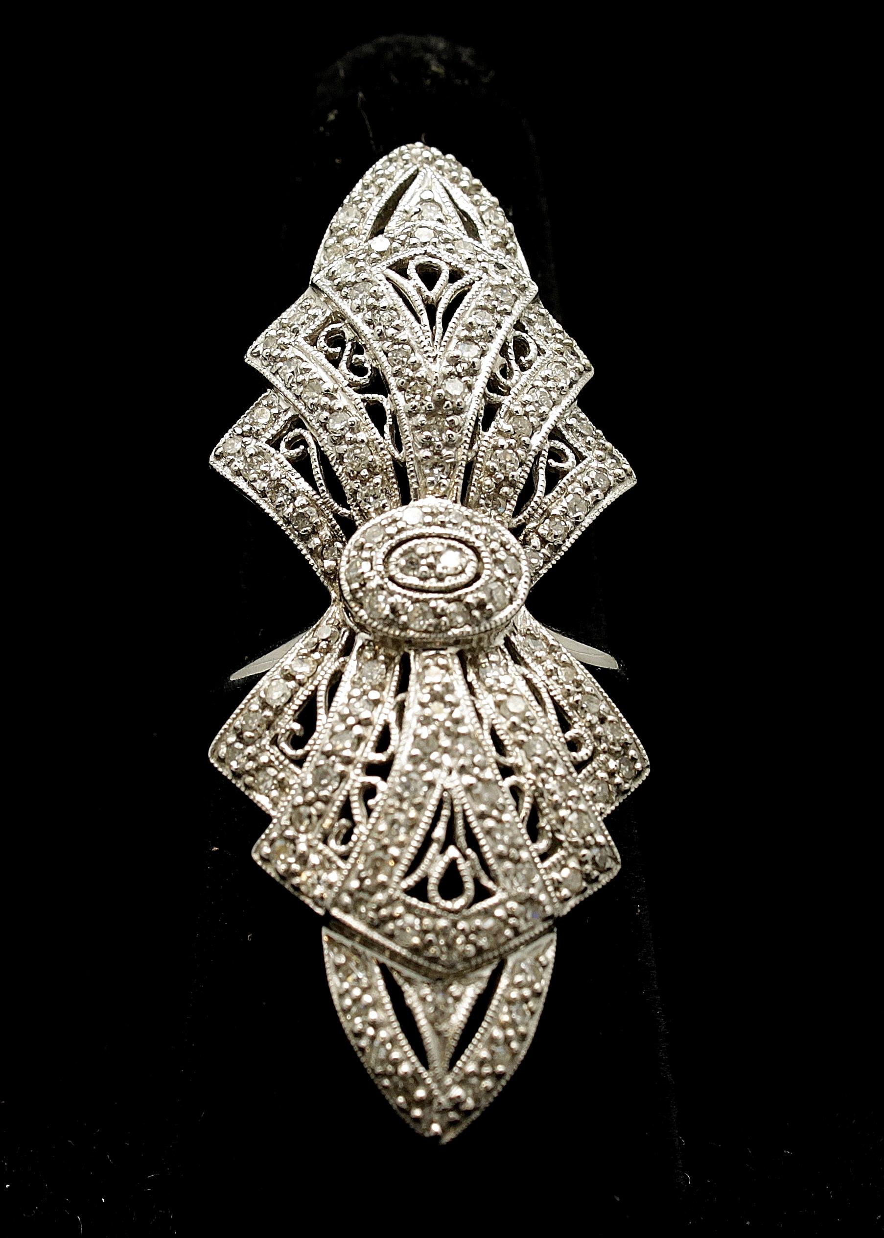 Vintage 14kt Diamond Ring 1.10cts
