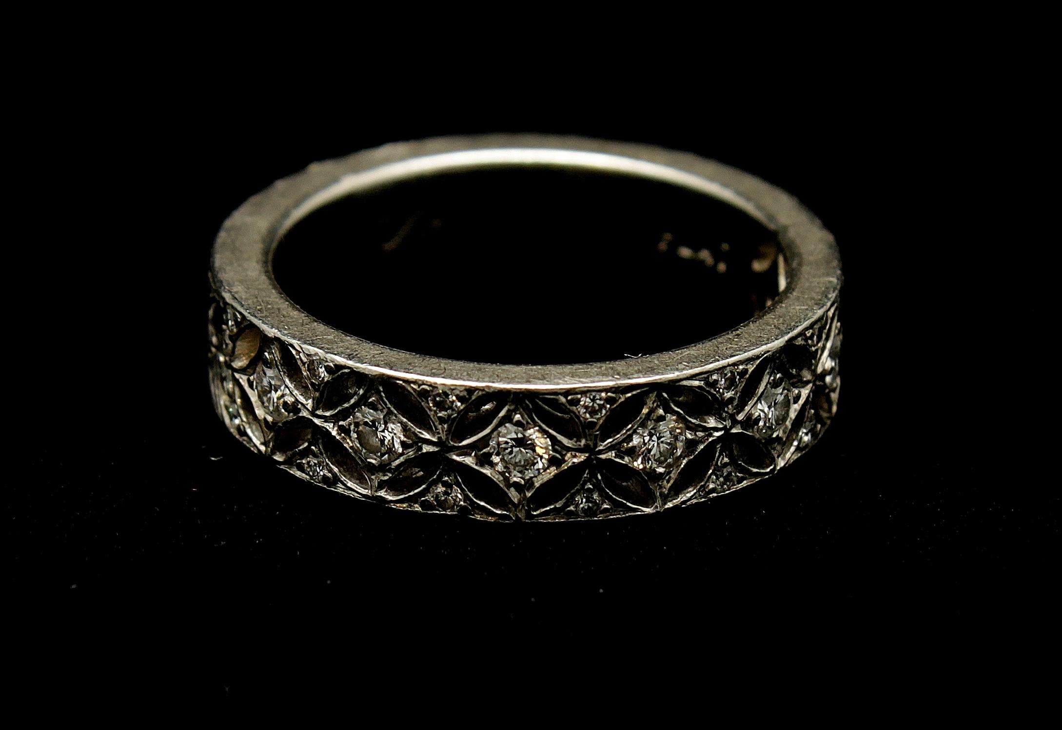 Vintage Platinum Diamond Ring .70cts Ring