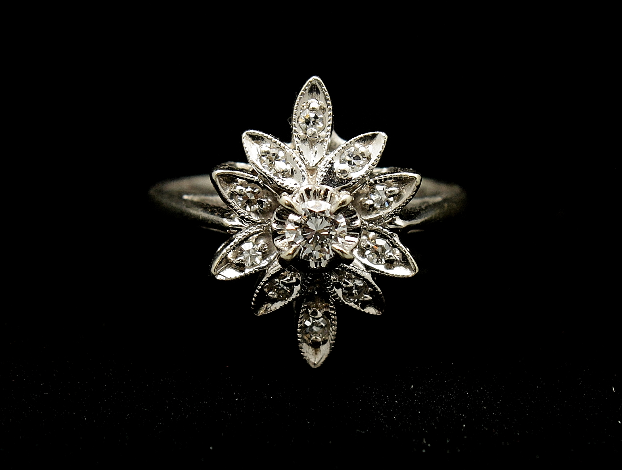 Vintage 14kt Diamond Ring .75cts Ring