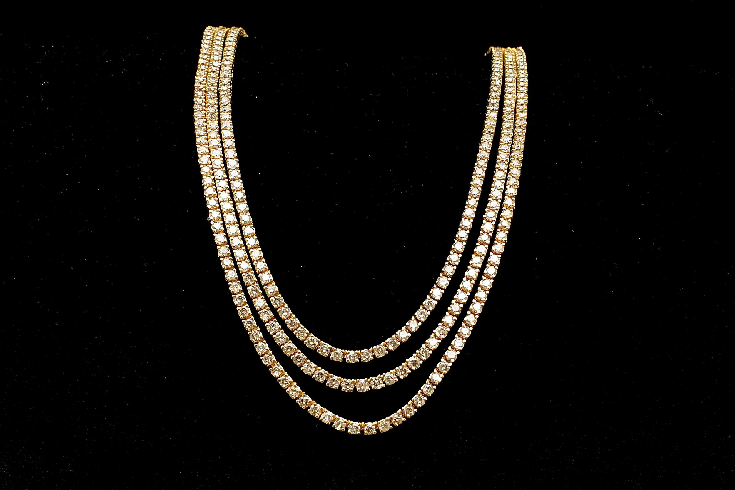 Vintage 14kt Diamond 23cts Necklace