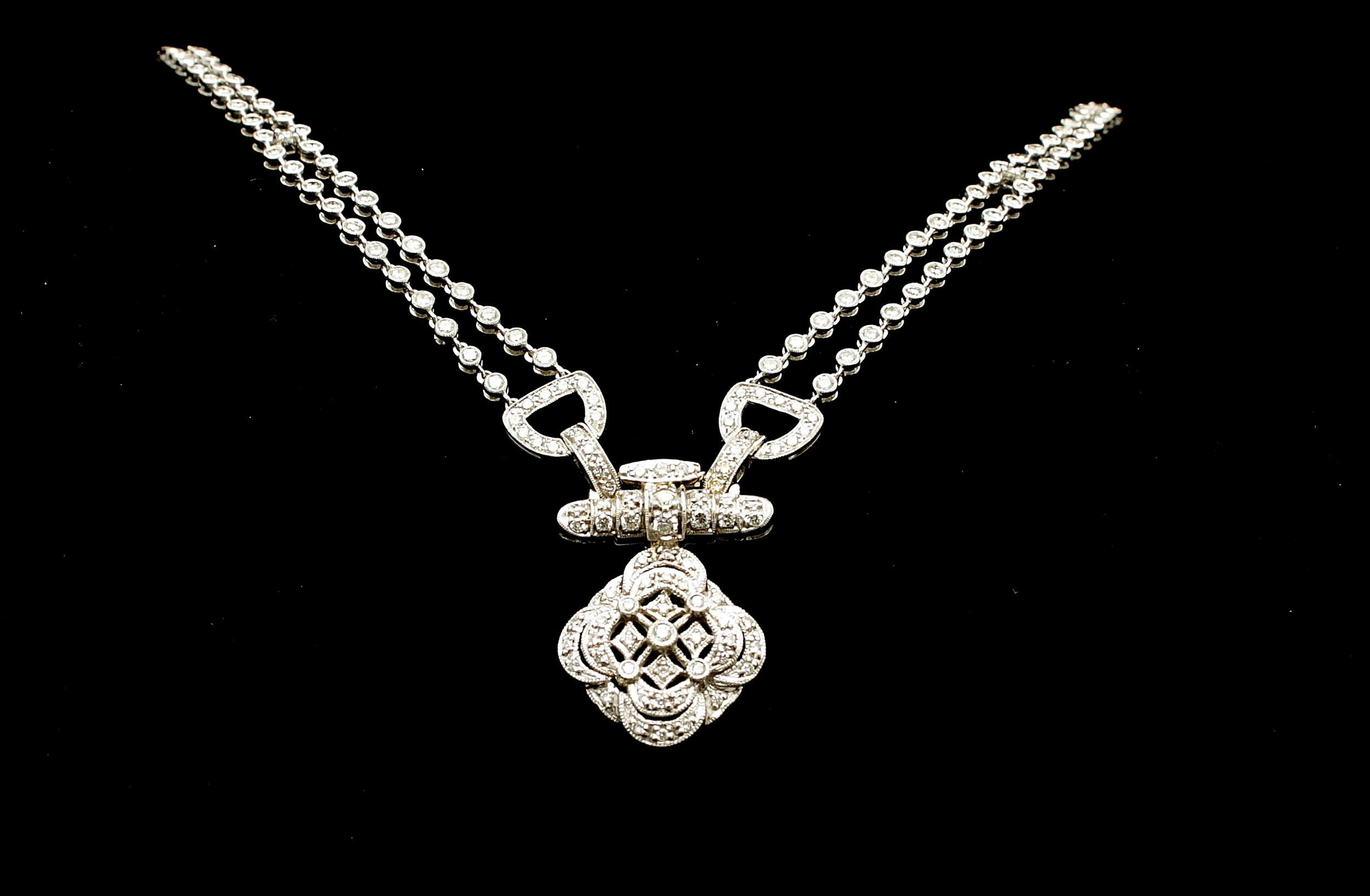 Vintage 18kt Diamond 7cts Necklace