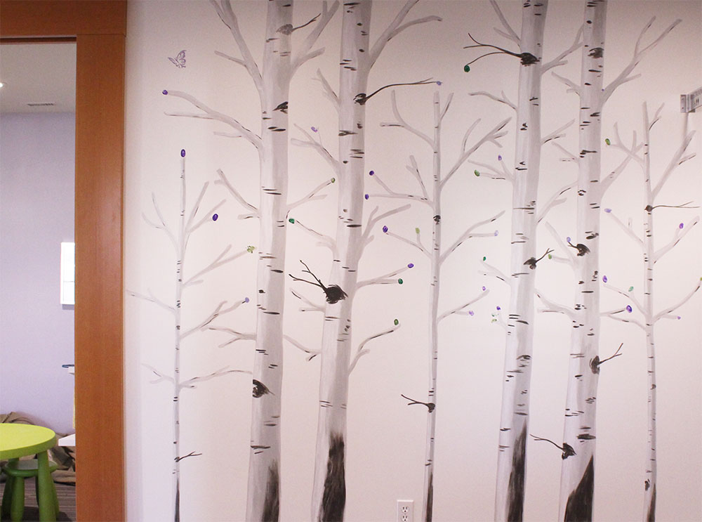 Join our Family Tree by placing your thumb print (your 'leaf') onto our wall!