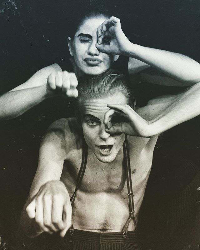 """Porno Shoppe"" #Theatre 1993... One of the first theatre shows I directed... What a journey with these two amazing actors @Nic kboraine & Yana Sakelaris. -Their commitment to their craft, the dedication to the incredibly challenging rehearsal process and to the work we were attempting -laid the roots for the way I still approach each opportunity Spiral Productions faces today!  Porno Shoppe was Performed @: @joburgtheatre &, @nationalartsfestival  Director: Josh Lindberg  Designed by: Josh Lindberg  Written by: Owen de Jager  Produced by: Spiral Productions, The WITS Theatre & The Johannesburg Civic Theatre with Arts Alive.  Starring Nick Boraine & Yana Sakelaris ""Rollicking fun, Acerbic wit… Convulsed with laughter."" –Raeford Daniel, The Citizen. ""Explosive, inventive precision… Perfected skill"". –Mary Jordan, The Business Day. ""Punchy raunchy humour. Splendid cohesion and timing"". -Ian Grey, The Star.  A look at the grotesqueries of society... (Web): 🌍  http://www.spiralproductions.co.za (Instagram): https://www.instagram.com/spiral.productions/ (Twitter): https://twitter.com/joshualindberg  @spiral.productions  Creating in more dimensions. Inspired by the potential to move an audience -To not only look, but experience.  Multimedia, multiple perspectives -live!"