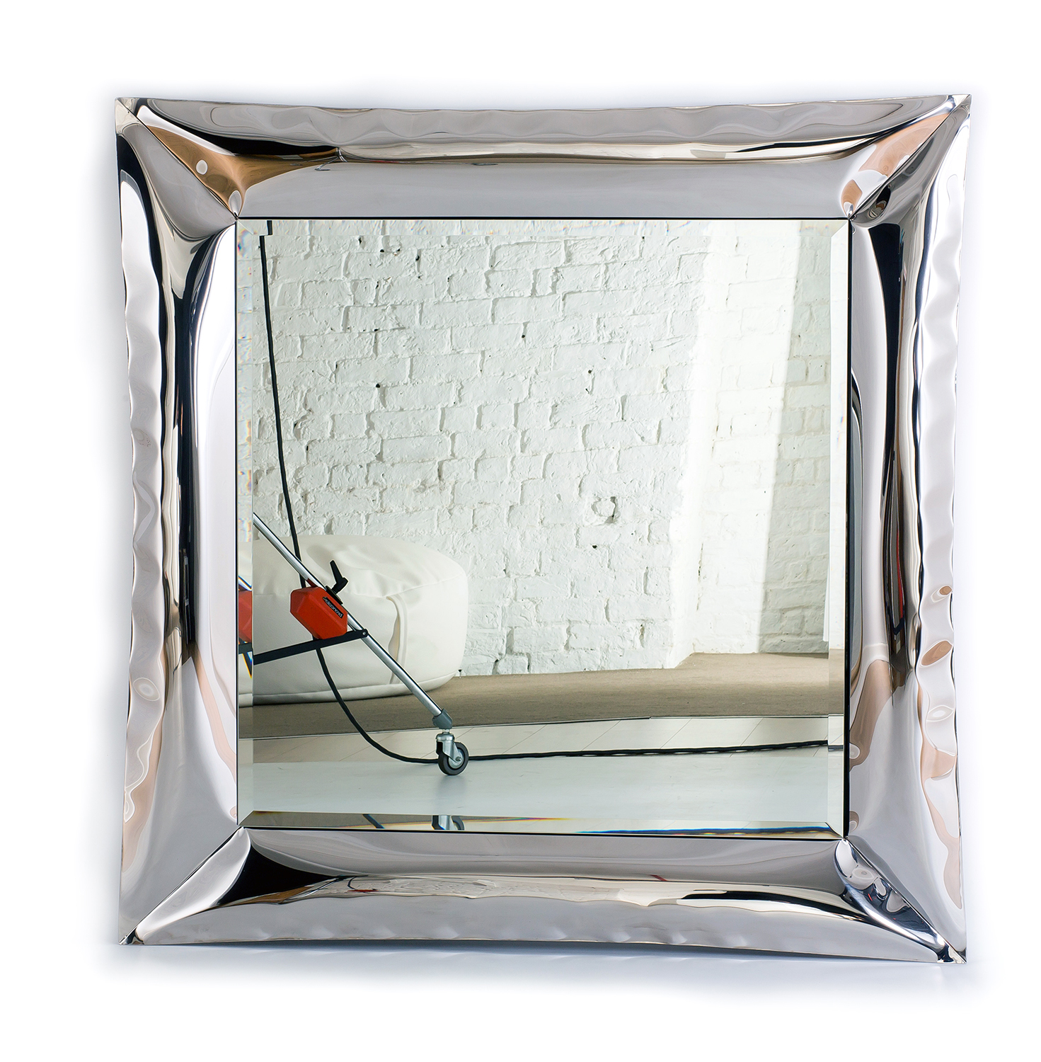 Featured Product:  Air Frame Mirror (Available to order online in standard finish mirror polished or satin stainless steel frame)