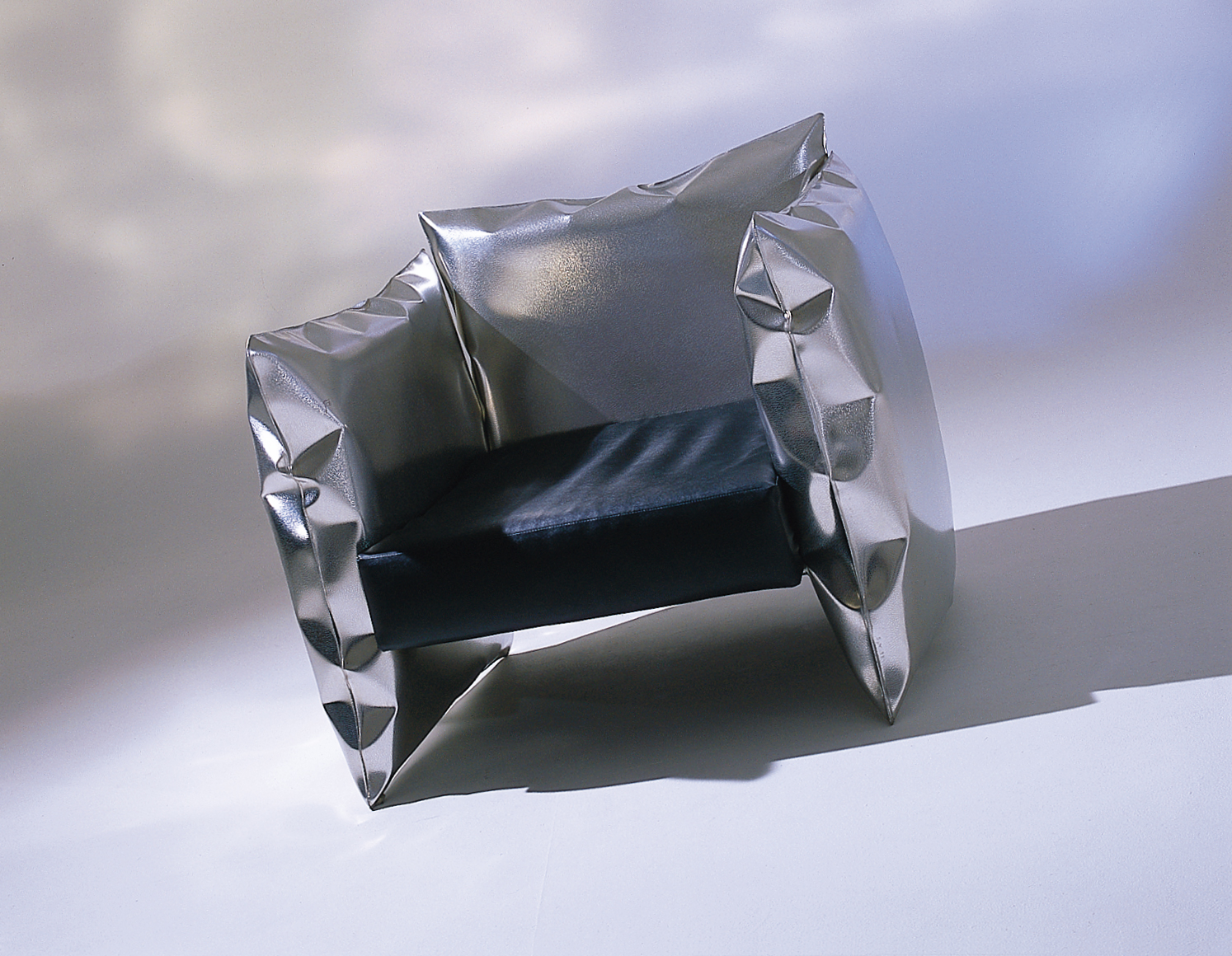 Soft Seat   Inflated metal seat with leather cushion in mirror polished stainless steel (please see our  collection  for further details)