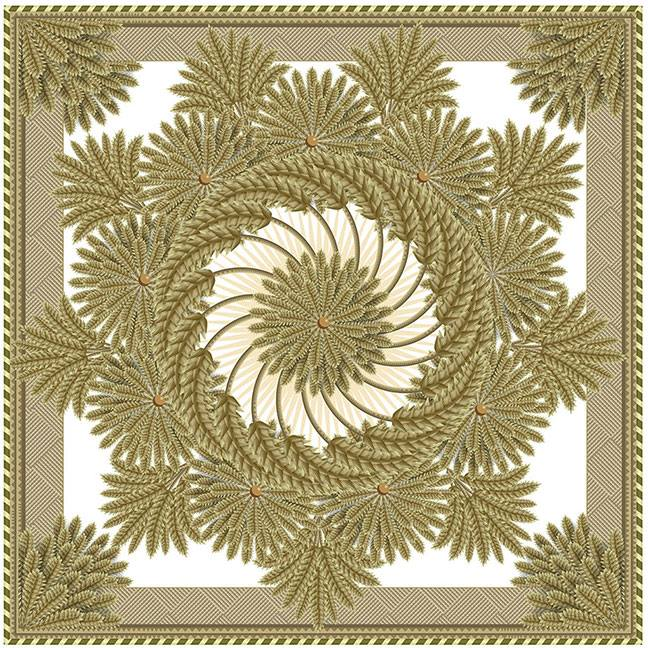 Wheat Wreath, Q. Cassetti 2013, Adobe Illustrator CC