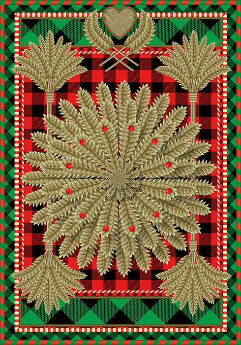 Advent 2013: Day Three: Swedish Wheat  Q. Cassetti, 2013  Trumansburg, NY, Adobe Illustrator CC