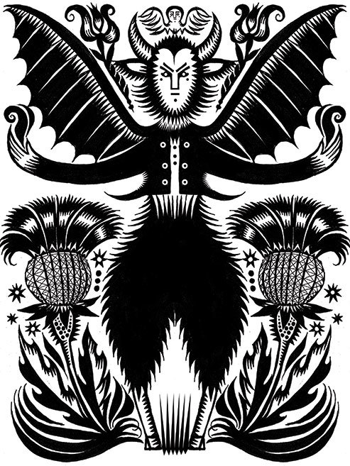 Advent 2013: Day Six: Krampusnacht  Q. Cassetti, 2011, Pen and Ink