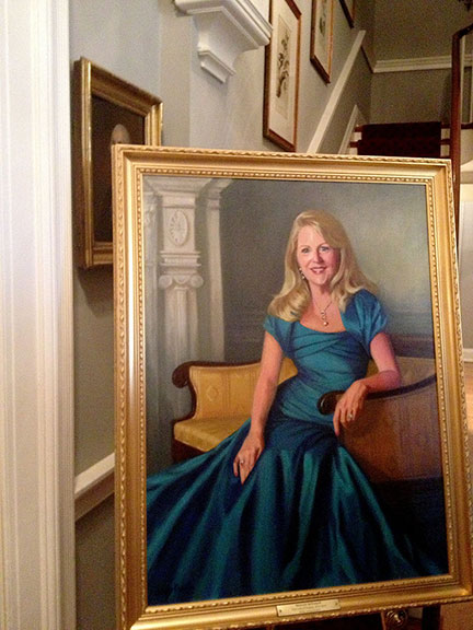 The official portrait of Virginia first lady, Maureen McDonnell, painted by Loryn Brazier.