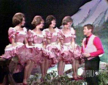 The adorable Lennon Sisters on Lawrence Welk. So sweet your eyeballs got cavities.