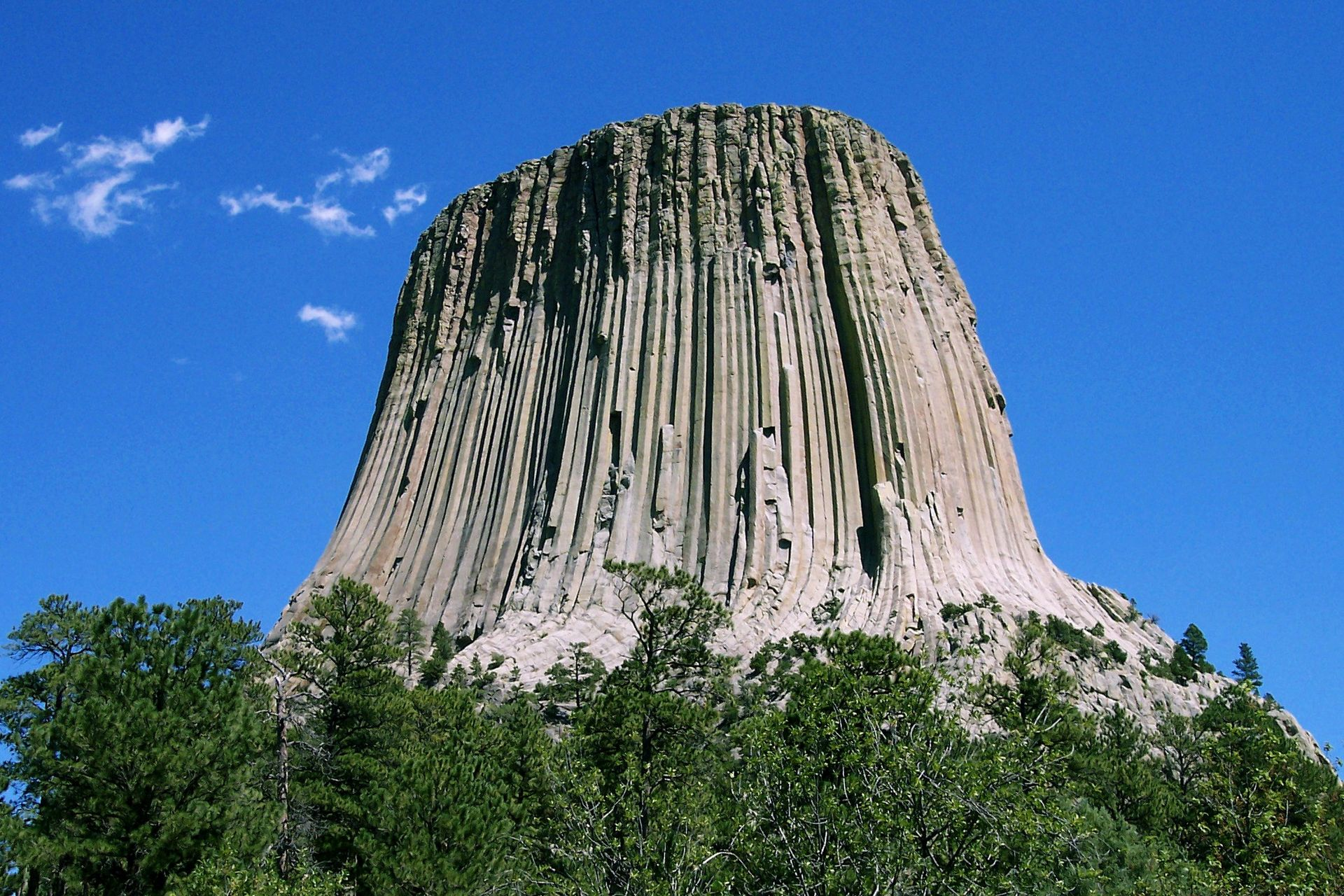 Devil's Tower from Wikipedia http://en.wikipedia.org/wiki/Devils_Tower