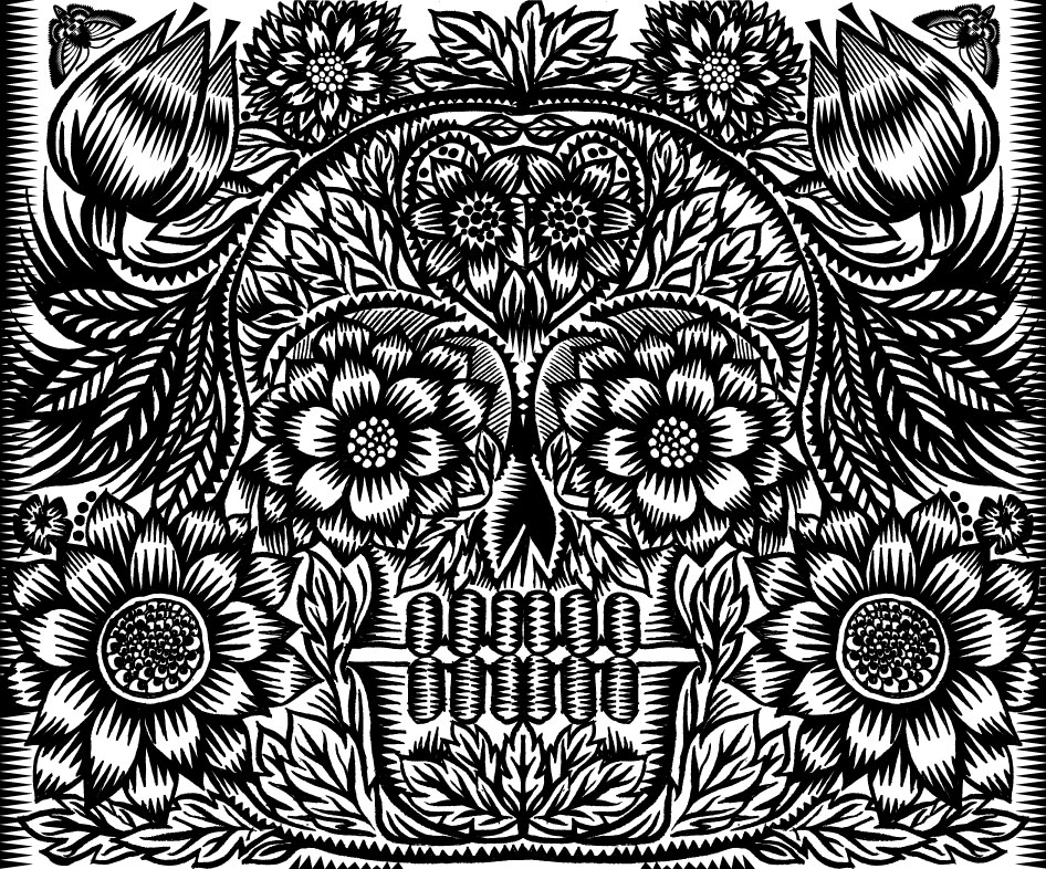 Life and Death, 2014, Q. Cassetti, pen and ink with digital enhancements (Adobe Illustrator)