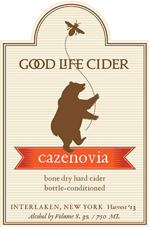 Cazenovia Cider Label, Good Life Cider, Clients: Melissa Madden, Garrett and Jimmy Miller, 2014