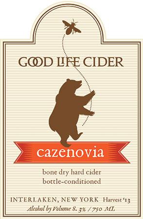 Cazenovia Cider Label, Good Life Cider, Clients: Melissa Madden, Garrett and Jimmy Miller, 2014