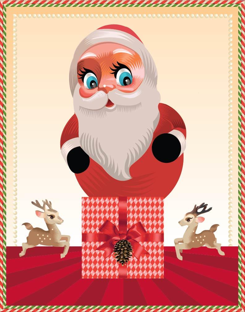 Santa Q.Cassetti, 2014 Adobe Ilustrator CC 2014