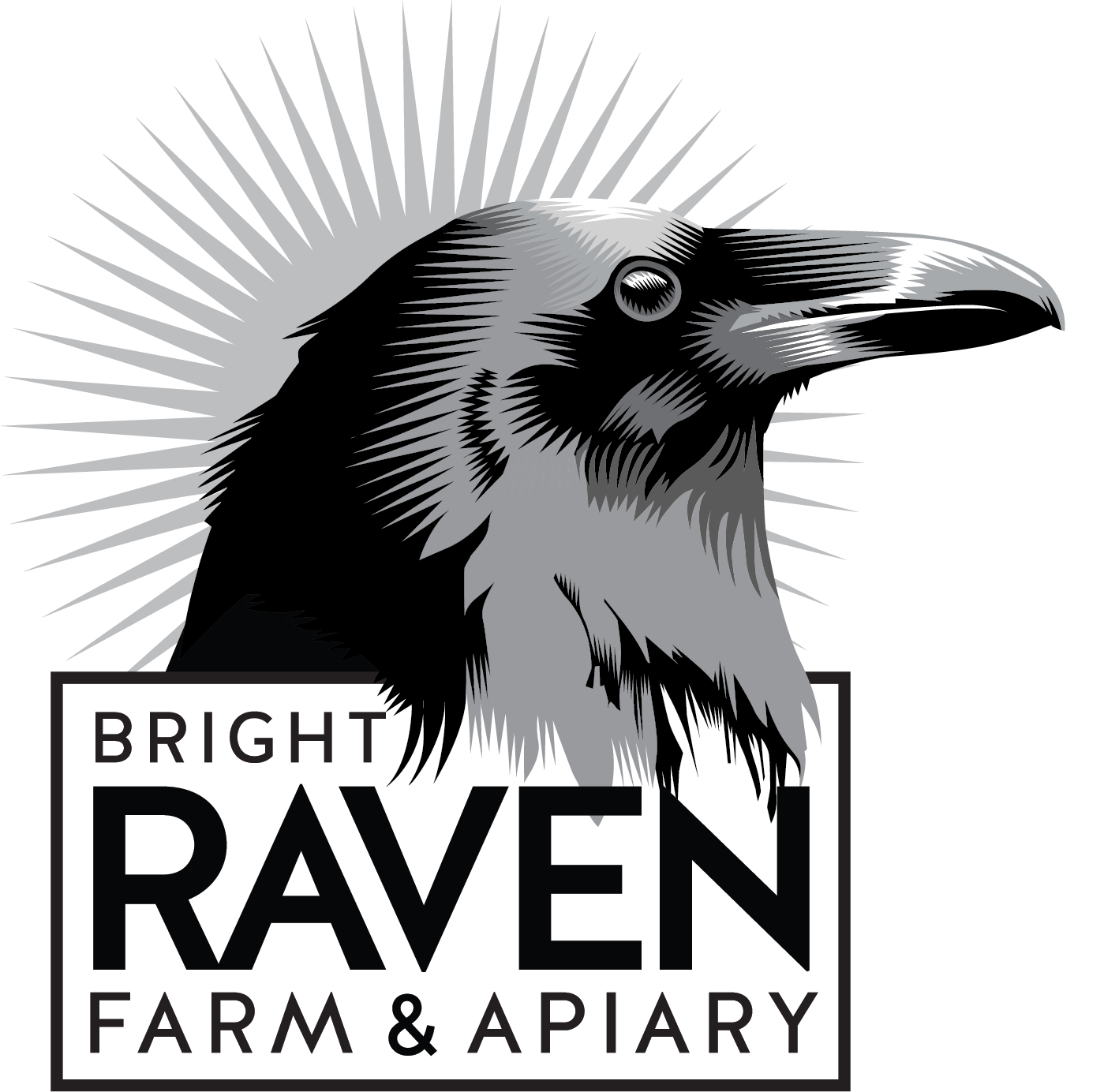 New logo for Bright Raven Farm & Apiary.
